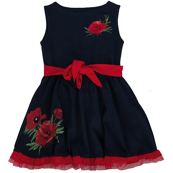Платье АпрельПлатья и сарафаны<br>Стильное летнее платье, выполненное из тонкого хлопкового полотна. Платье от торговой марки  Апрель из коллекции Маки— модель, которая идеально подходит по всем параметрам, потому что платье изготовлено из безопасных материалов и имеет необходимые сертификаты качества, скроено с учётом всех важных особенностей строения детской фигуры, за счёт чего обеспечивает исключительный комфорт;  отличается дизайном, который определённо понравится девочке. Приятное на ощупь, не сковывает движения, обеспечивая наибольший комфорт. Изделие прямого кроя с короткими рукавами, декорировано эффектным дизайнерским принтом. Отличный вариант для прогулки и праздника! Рекомендуется машинная стирка при температуре 40 градусов без предварительного замачивания.<br><br>Дополнительная информация:<br><br>- ткань: кулир<br> - состав: 92% хлопок 8% лайкра<br>- длина рукава: короткие<br>- вид застежки: кнопки<br>- вид бретелек: без бретелек<br>- длина изделия: по спинке: 52 см<br>- фактура материала: трикотажный<br>- длина юбки: мини<br>- тип карманов: без карманов<br>- по назначению: повседневный стиль<br>- цвет: темно-синий, красный, белый<br>- сезон: лето<br>- пол: девочки<br>- страна бренда: Россия<br>- страна производитель: Россия<br>- комплектация: платье<br>- коллекция Маки<br><br>Платье коллекции Маки от торговой марки  Апрель можно купить в нашем интернет-магазине.<br><br>Ширина мм: 236<br>Глубина мм: 16<br>Высота мм: 184<br>Вес г: 177<br>Цвет: синий<br>Возраст от месяцев: 84<br>Возраст до месяцев: 96<br>Пол: Женский<br>Возраст: Детский<br>Размер: 128,122,146,134,116,140,110<br>SKU: 4630500