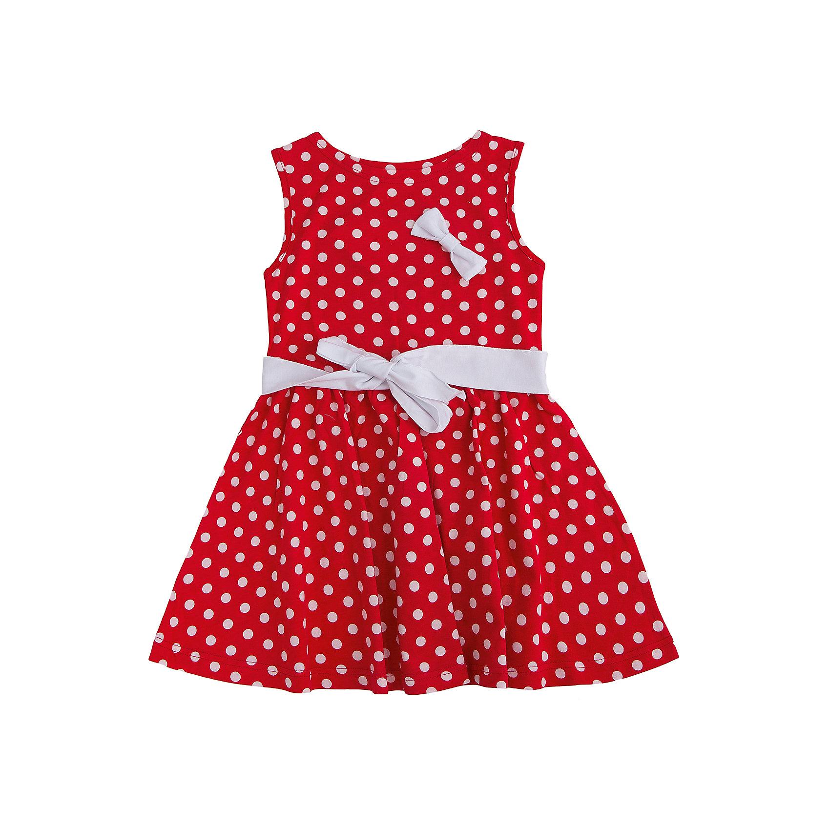 Платье АпрельВас волнует как летом  буде выглядеть Ваша дочь ? Купите  ей платье в горошек и она будет блистать и в садике на утреннике и на прогулке. Красивое сочетание черный горох на белом фоне. Черный горох  на белом фоне – это уникальное сочетание. К белому платью  в черный горох как, нельзя, кстати, подойдут красные дополнения: пояс и брошь.<br><br>Дополнительная информация: <br><br>- вырез горловины: округлый вырез<br>- декоративные элементы: банты<br>- длина рукава: без рукавов<br>- длина изделия: по спинке: 56 см<br>- ширина рукава: пройма: 17 см<br>- вид застежки: без застежки<br>- особенности ткани: мягкая<br>- рукав: ширина проймы: 15 см<br>- материал подкладки: без подкладки: 100 %<br>- сезон: лето<br>- пол: девочки<br>- фирма-производитель: Апрель<br>- страна производитель: Россия<br>- комплектация: пояс, брошь, платье<br>- цвет: белый, черный, красный<br><br>Платье  от торговой марки Апрель можно купить в нашем интернет-магазине.<br><br>Ширина мм: 236<br>Глубина мм: 16<br>Высота мм: 184<br>Вес г: 177<br>Цвет: красно-белый<br>Возраст от месяцев: 72<br>Возраст до месяцев: 84<br>Пол: Женский<br>Возраст: Детский<br>Размер: 122,134,110,104,128,116,98,140<br>SKU: 4630515