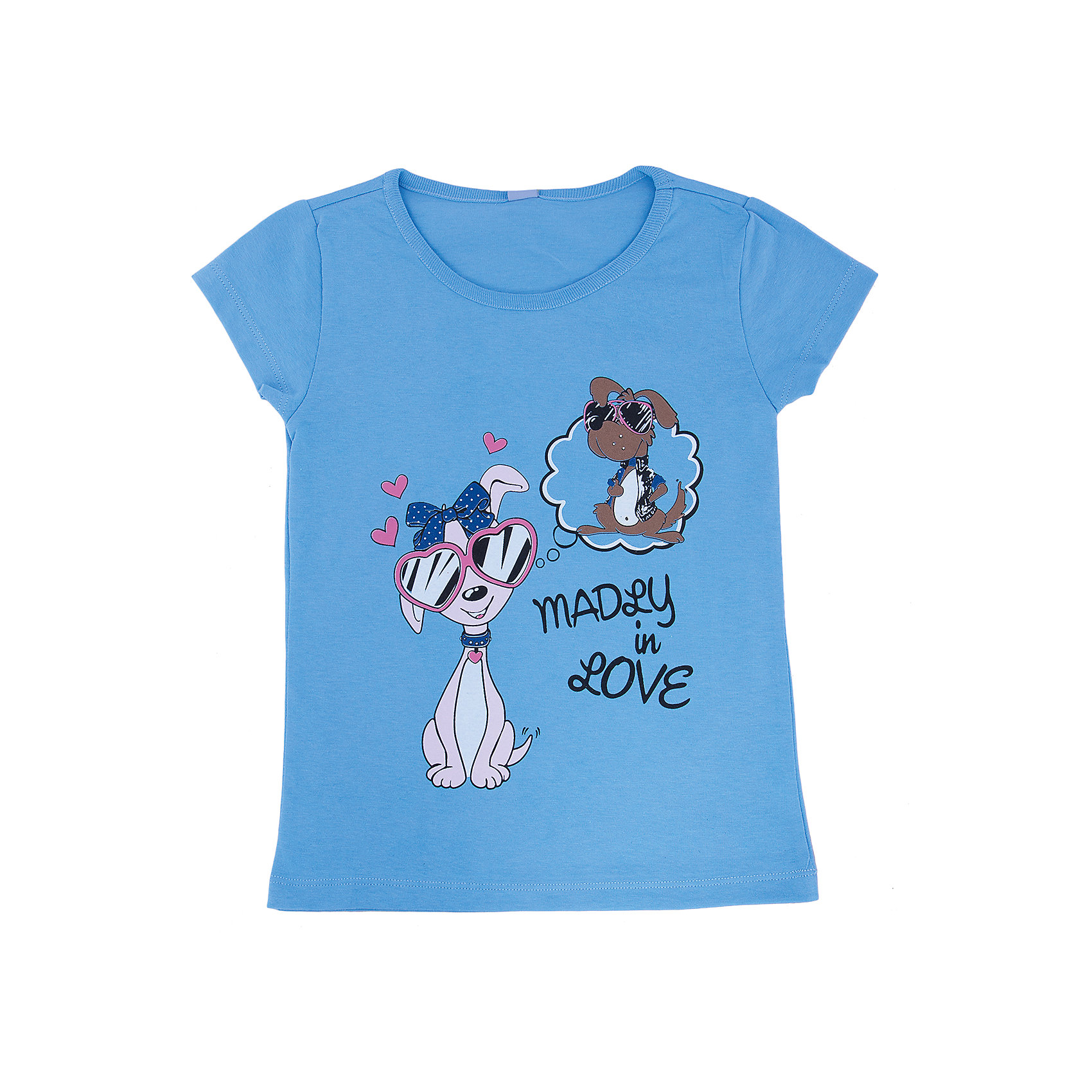Футболка для девочки DAUBERФутболка для девочки с коротким рукавом из высококачественного хлопка. В двух цветах: голубой и салатовый Яркая печать. Состав:100% хлопок<br><br>Ширина мм: 199<br>Глубина мм: 10<br>Высота мм: 161<br>Вес г: 151<br>Цвет: голубой<br>Возраст от месяцев: 84<br>Возраст до месяцев: 96<br>Пол: Женский<br>Возраст: Детский<br>Размер: 128,152,140,134,122,146<br>SKU: 4630983
