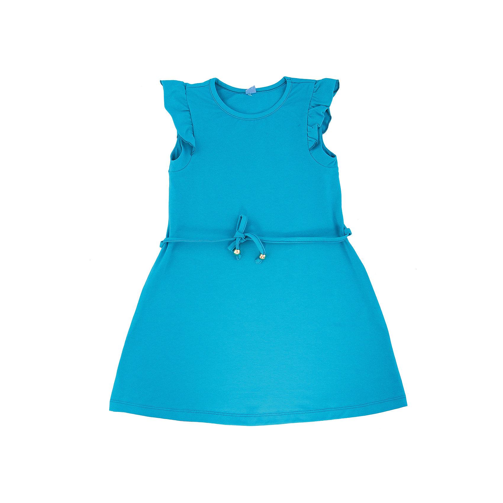 Платье для девочки DAUBERПлатья и сарафаны<br>Платье для девочки с коротким рукавом из высококачественного хлопка с  лайкрой.  Состав:95%хлопок 5%лайкра<br><br>Ширина мм: 236<br>Глубина мм: 16<br>Высота мм: 184<br>Вес г: 177<br>Цвет: бирюзовый<br>Возраст от месяцев: 156<br>Возраст до месяцев: 168<br>Пол: Женский<br>Возраст: Детский<br>Размер: 164,140,122,128,134,146,152,158<br>SKU: 4631031