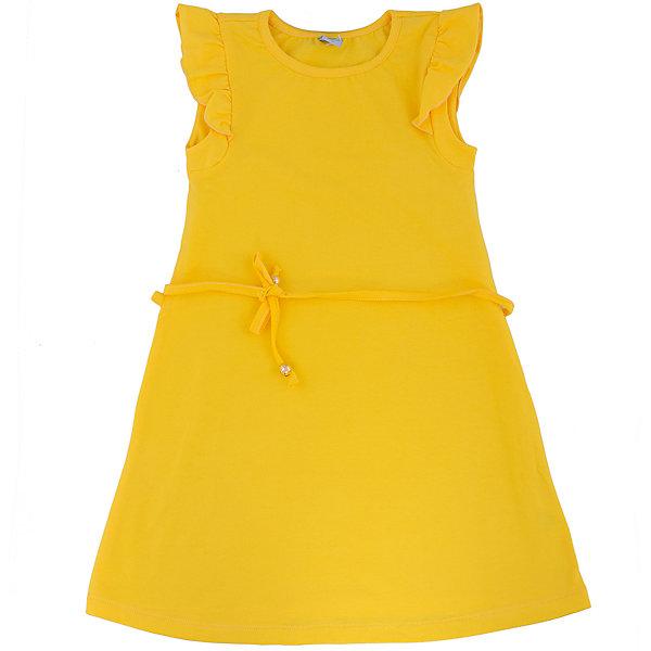 Платье для девочки DAUBERПлатья и сарафаны<br>Платье для девочки с коротким рукавом из высококачественного хлопка с  лайкрой.  Состав:95%хлопок 5%лайкра<br><br>Ширина мм: 236<br>Глубина мм: 16<br>Высота мм: 184<br>Вес г: 177<br>Цвет: желтый<br>Возраст от месяцев: 144<br>Возраст до месяцев: 156<br>Пол: Женский<br>Возраст: Детский<br>Размер: 158,122,140,146,152,164,134,128<br>SKU: 4631040