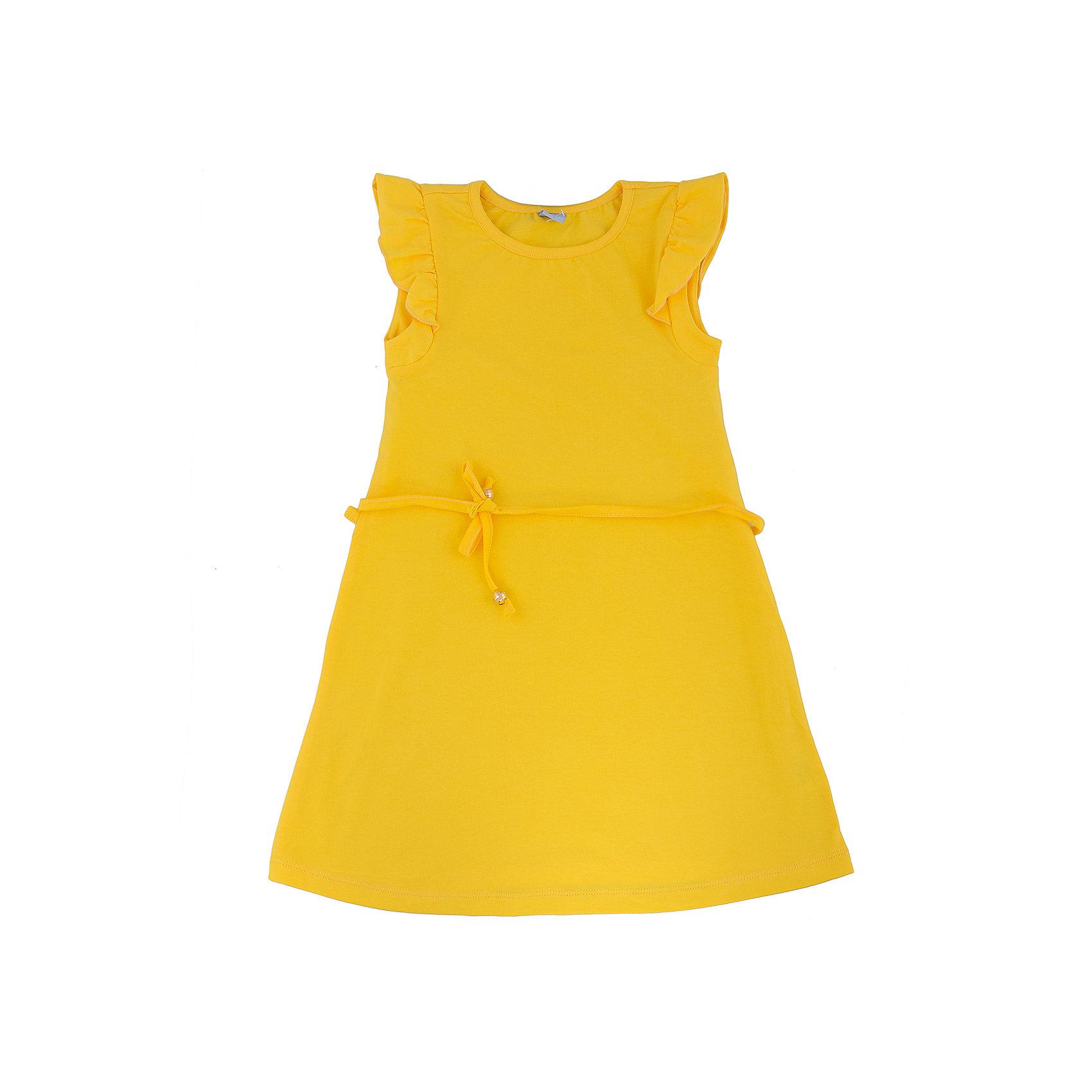 Платье для девочки DAUBERПлатья и сарафаны<br>Платье для девочки с коротким рукавом из высококачественного хлопка с  лайкрой.  Состав:95%хлопок 5%лайкра<br><br>Ширина мм: 236<br>Глубина мм: 16<br>Высота мм: 184<br>Вес г: 177<br>Цвет: желтый<br>Возраст от месяцев: 156<br>Возраст до месяцев: 168<br>Пол: Женский<br>Возраст: Детский<br>Размер: 164,140,122,128,134,158,152,146<br>SKU: 4631040