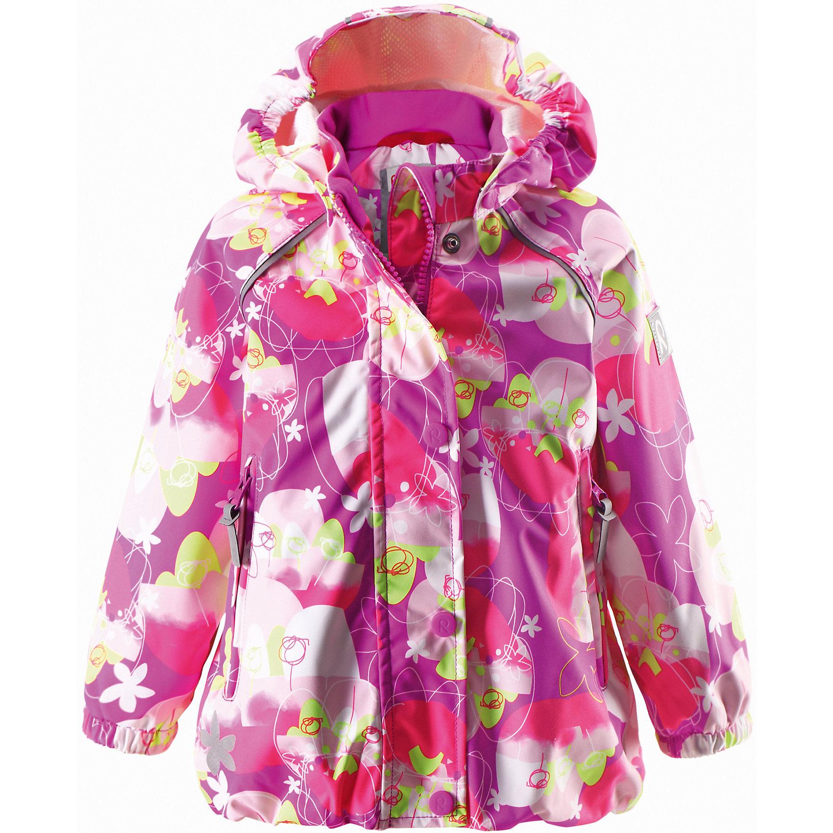 Куртка для девочки ReimaКуртка Reimatec от финской марки Reima.<br>*Куртка демисезонная для малышей*Все швы проклеены и водонепроницаемы*Водо- и ветронепроницаемый, «дышащий» и грязеотталкивающий материал*Подкладка из mesh-сетки*Безопасный, съемный капюшон*Регулируемый подол*Два кармана на молнии*Безопасные светоотражающие детали<br>Состав:<br>100% ПЭ, ПУ-покрытие<br><br>Ширина мм: 356<br>Глубина мм: 10<br>Высота мм: 245<br>Вес г: 519<br>Цвет: фуксия<br>Возраст от месяцев: 9<br>Возраст до месяцев: 12<br>Пол: Женский<br>Возраст: Детский<br>Размер: 80,98,92,86<br>SKU: 4631344