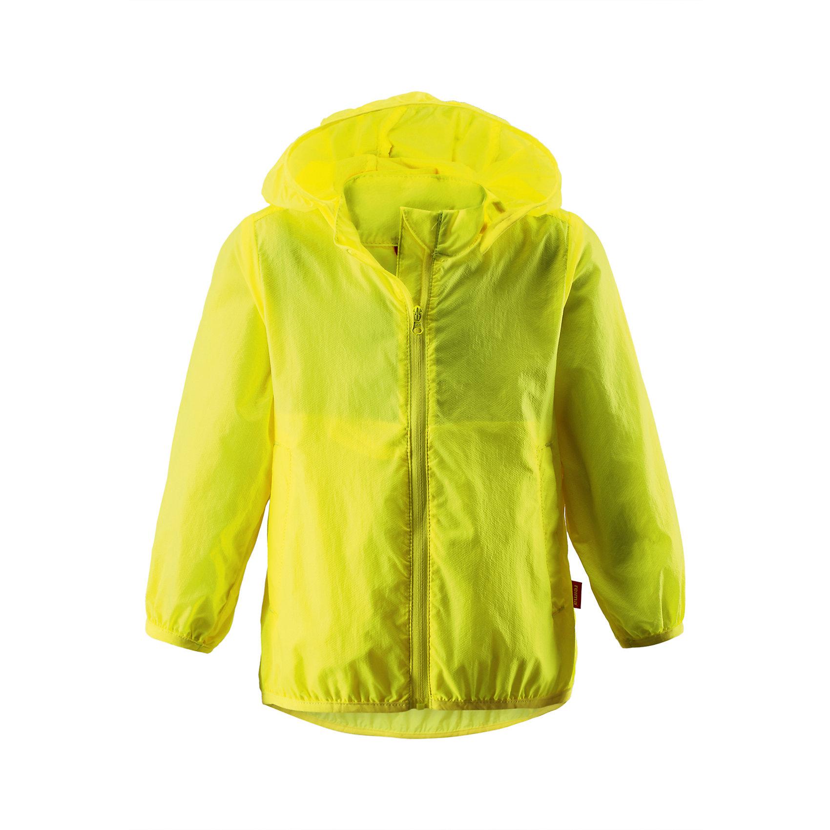 Куртка для девочки ReimaКуртка от финской марки Reima.<br>*Куртка для малышей*Безопасный, съемный капюшон*Эластичная резинка на кромке капюшона, манжетах и подоле*Возможность сложить куртку в ее собственный карман*Два боковых кармана<br>Состав:<br>100% ПА<br><br>Ширина мм: 356<br>Глубина мм: 10<br>Высота мм: 245<br>Вес г: 519<br>Цвет: желтый<br>Возраст от месяцев: 9<br>Возраст до месяцев: 12<br>Пол: Женский<br>Возраст: Детский<br>Размер: 80,98,92,86<br>SKU: 4631349