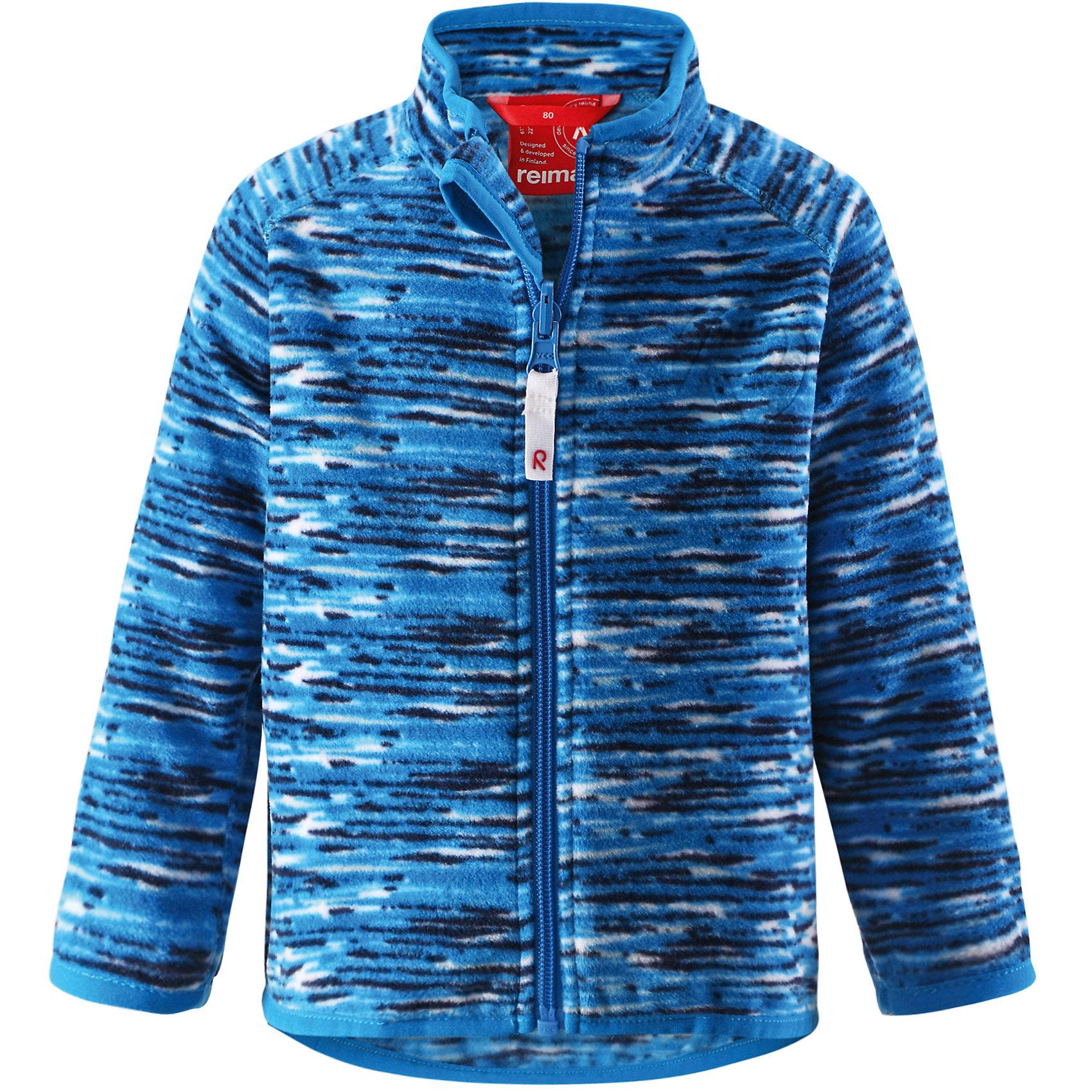 Куртка флисовая ReimaКуртка флисовая от финской марки Reima.<br>*Флисовая куртка для малышей*Теплый, легкий и быстросохнущий поларфлис*Может пристегиваться к верхней одежде Reima® кнопками Play Layers®*Эластичная резинка на воротнике, манжетах и подоле*Удлиненный подол сзади для дополнительной защиты*Молния по всей длине с защитой подбородка*Двухсторонний замок молнии позволяет застегивать куртку при использовании системы Play Layers®*Аппликация<br>Состав:<br>100% ПЭ<br><br>Ширина мм: 190<br>Глубина мм: 74<br>Высота мм: 229<br>Вес г: 236<br>Цвет: голубой<br>Возраст от месяцев: 6<br>Возраст до месяцев: 9<br>Пол: Унисекс<br>Возраст: Детский<br>Размер: 74,92,98,86,80<br>SKU: 4631403