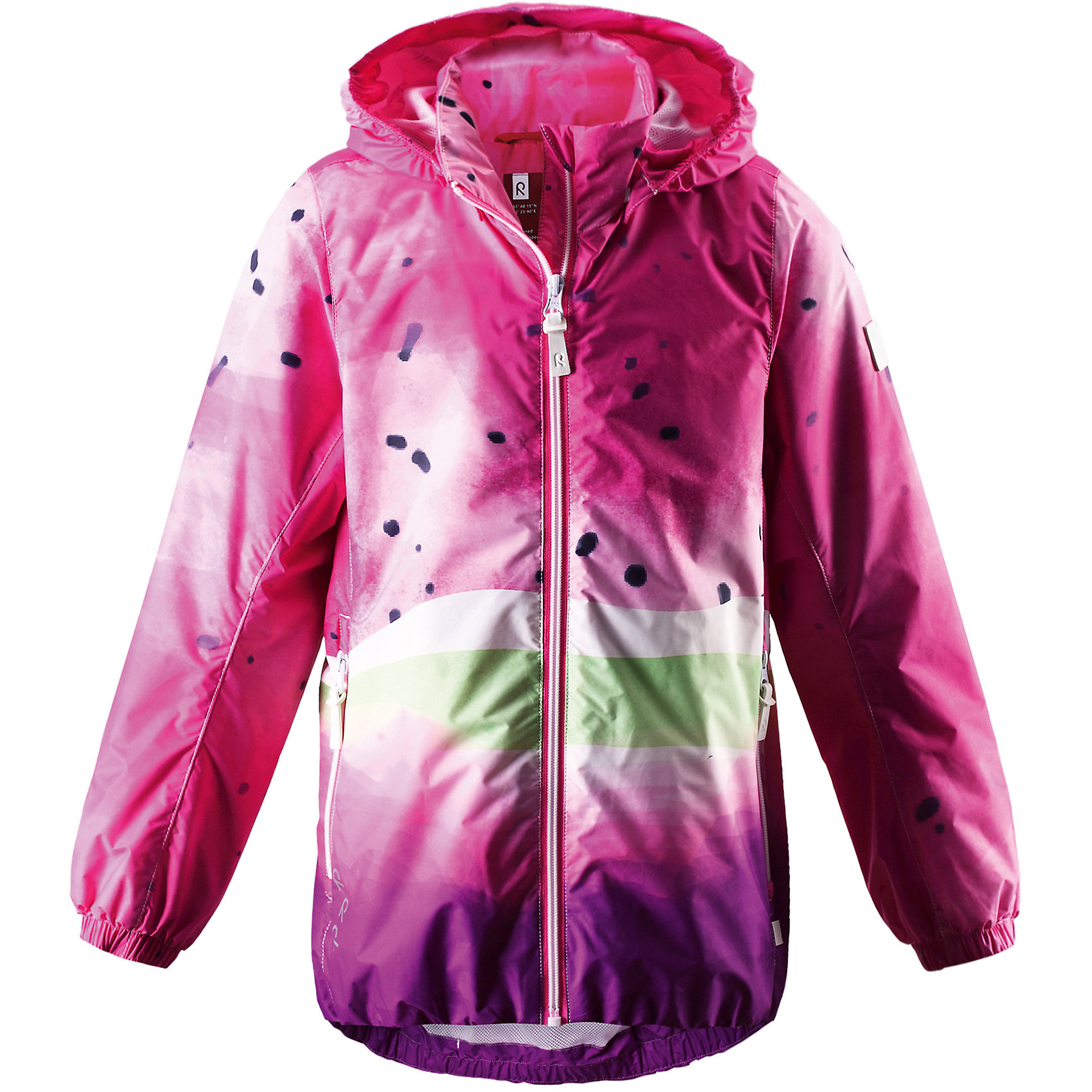 Куртка для девочки ReimaОдежда<br>Куртка от финской марки Reima.<br>*Куртка демисезонная для подростков*Водоотталкивающий, ветронепроницаемый и «дышащий» материал*Подкладка из mesh-сетки*Безопасный, съемный капюшон*Регулируемый подол*Два кармана на молнии<br>Состав:<br>100% ПЭ, ПУ-покрытие<br><br>Ширина мм: 356<br>Глубина мм: 10<br>Высота мм: 245<br>Вес г: 519<br>Цвет: розовый<br>Возраст от месяцев: 108<br>Возраст до месяцев: 120<br>Пол: Женский<br>Возраст: Детский<br>Размер: 140,134,128,122,116,104,110<br>SKU: 4631534