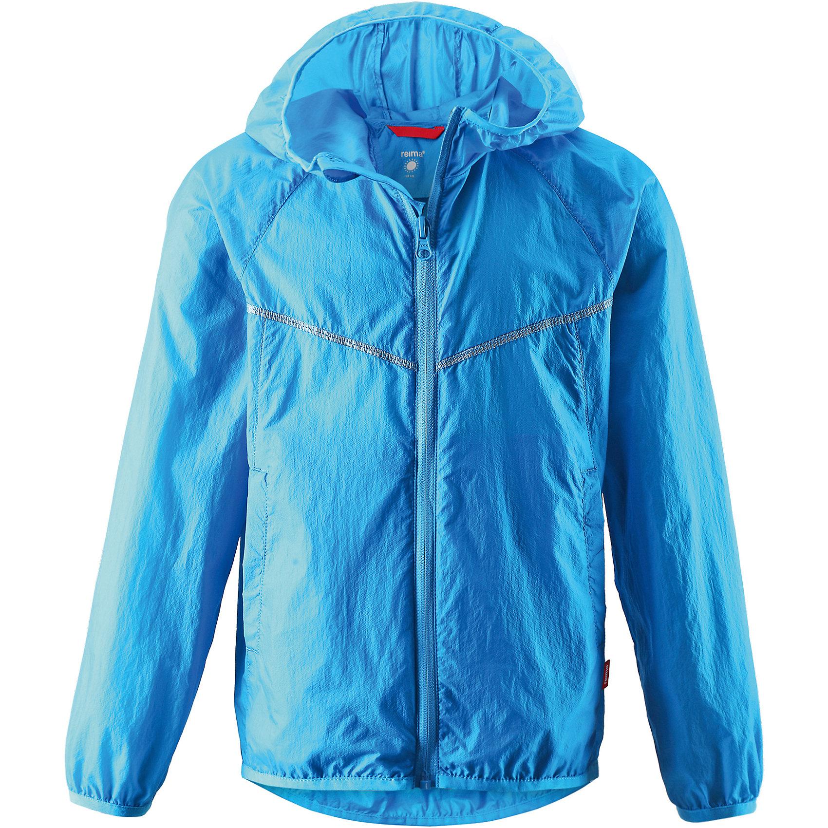 Куртка ReimaОдежда<br>Куртка от финской марки Reima.<br>*Куртка для подростков*Облегченный материал!*Эластичная резинка на кромке капюшона, манжетах и подоле*Возможность сложить куртку в ее собственный карман*Два боковых кармана<br>Состав:<br>100% ПА<br><br>Ширина мм: 356<br>Глубина мм: 10<br>Высота мм: 245<br>Вес г: 519<br>Цвет: голубой<br>Возраст от месяцев: 84<br>Возраст до месяцев: 96<br>Пол: Унисекс<br>Возраст: Детский<br>Размер: 128,116,110,122,104,134,140<br>SKU: 4631557