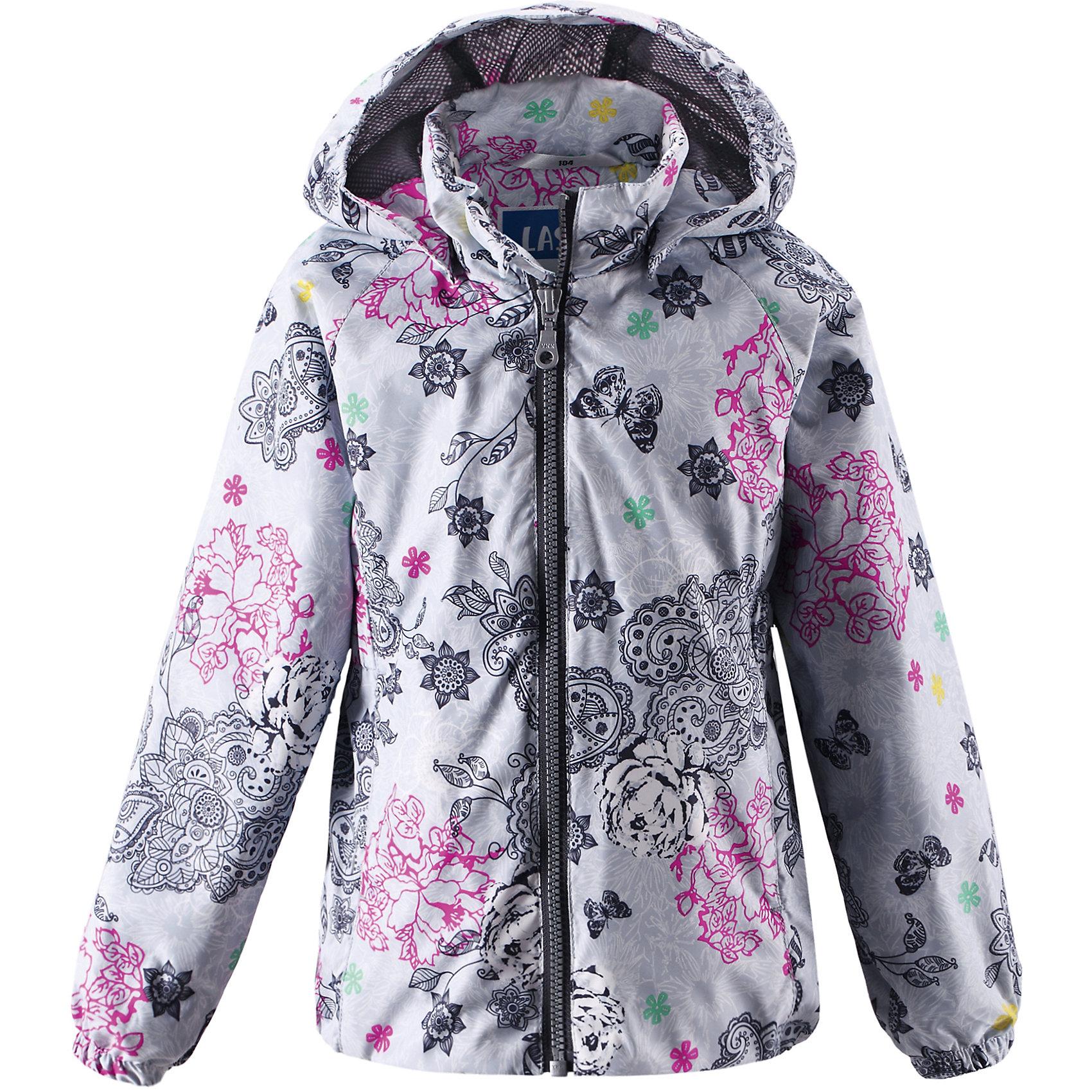 Куртка LASSIE by ReimaКуртка от финской марки LASSIE by Reima.<br>*куртка для девочек<br>*съемный капюшон<br>*карманы на липучках<br>*эластичные вставки по бокам подола<br>Состав:<br>100% ПЭ, ПУ-покрытие<br><br>Ширина мм: 356<br>Глубина мм: 10<br>Высота мм: 245<br>Вес г: 519<br>Цвет: серый<br>Возраст от месяцев: 24<br>Возраст до месяцев: 36<br>Пол: Женский<br>Возраст: Детский<br>Размер: 104,98,92,128,116,140,134,122,110<br>SKU: 4631697