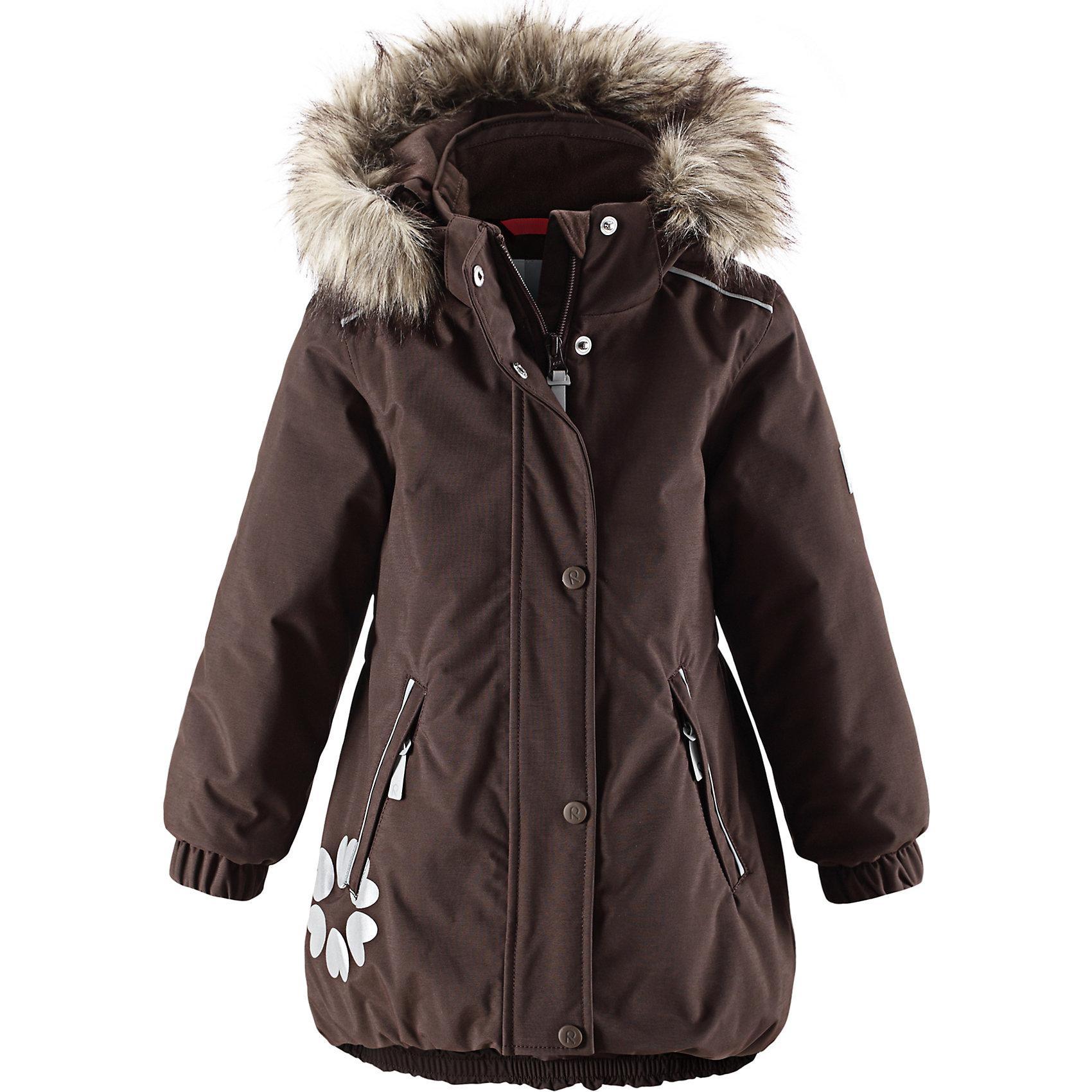 Куртка Reimatec ReimaОдежда<br>Куртка Reimatec от финской марки Reima.<br>*Водонепроницаемая зимняя куртка для детей постарше, модель для девочек<br>*Все швы проклеены, водонероницаемы<br>*Безопасный сьемный капюшон, укарашенный отстегивающимся искусственным мехом<br>*Два кармана на молнии<br>*Подол регулируется<br>*Безопасные светоотражающие детали<br>Состав:<br>100% ПА, ПУ-покрытие<br><br>Ширина мм: 356<br>Глубина мм: 10<br>Высота мм: 245<br>Вес г: 519<br>Цвет: коричневый<br>Возраст от месяцев: 36<br>Возраст до месяцев: 48<br>Пол: Унисекс<br>Возраст: Детский<br>Размер: 104,110,122,116<br>SKU: 4632018