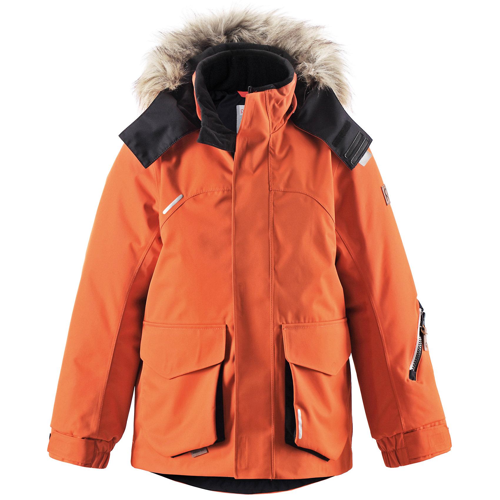Куртка Reimatec ReimaКуртка Reimatec от финской марки Reima.<br>*Водонепроницаемая зимняя куртка для подростков, модель для мальчиков<br>*Основной материал - bluesign®<br>*Все швы проклеены, водонепроницаемы<br>*Безопасный съёмный регулируемый капюшон, украшенный отстёгивающимся искусственным мехом<br>*Два боковых кармана с клапанами<br>*Регулируемый подол<br><br>Состав:<br>100% ПА, ПУ-покрытие<br><br>Ширина мм: 356<br>Глубина мм: 10<br>Высота мм: 245<br>Вес г: 519<br>Цвет: оранжевый<br>Возраст от месяцев: 36<br>Возраст до месяцев: 48<br>Пол: Унисекс<br>Возраст: Детский<br>Размер: 104,164,110,122,116<br>SKU: 4632033