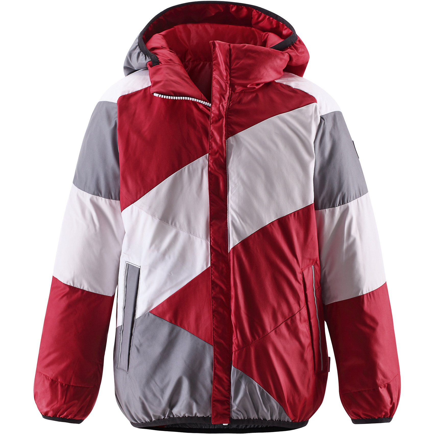 Куртка ReimaОдежда<br>Двусторонняя куртка от финской марки Reima.<br><br>Сегодня однотонная, а завтра яркая и разноцветная! Этот весёлый двусторонний пуховик для детей согреет любителей прогулок в морозные зимние деньки! Пошит из ветронепроницаемого и пропускающего воздух материала, который отталкивает грязь и влагу.<br><br>В этом пуховике вашему ребёнку будет сухо и тепло на прогулке. Традиционный пуховик прямого покроя со съёмным капюшоном, который защитит от зимнего ветра. На этой великолепной зимней куртке имеется множество светоотражающих деталей, например, светоотражающие канты на карманах. Съёмный капюшон обеспечивает дополнительную надёжность - если закреплённый кнопками капюшон зацепится за что-нибудь, он легко отстегнётся. Выберите свой любимый цвет среди модных в этом сезоне расцветок!<br>- Двусторонний пуховик для подростков<br>- Одна сторона однотонная, другая - разноцветная<br>- Карманы на молниях<br>- Эластичный кант на манжетах рукавов, по краю капюшона и подола<br>- Безопасный съёмный капюшон<br><br>Состав:<br>Ткань-100%ПЭ,<br>Наполнитель-60%пух,40%перо<br><br>Ширина мм: 356<br>Глубина мм: 10<br>Высота мм: 245<br>Вес г: 519<br>Цвет: красный<br>Возраст от месяцев: 36<br>Возраст до месяцев: 48<br>Пол: Унисекс<br>Возраст: Детский<br>Размер: 104,164,122,152,146,140,134,128,116,110,158<br>SKU: 4632039