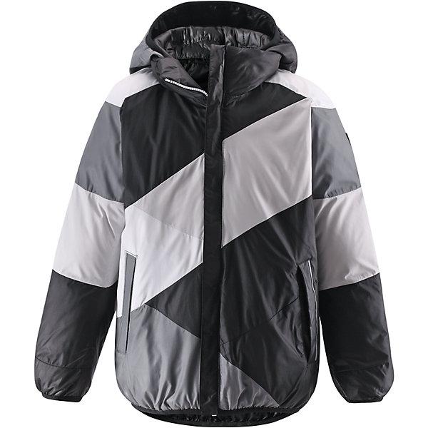 Куртка для мальчика ReimaОдежда<br>Двусторонняя куртка для мальчика от финской марки Reima.<br><br>Сегодня однотонная, а завтра яркая и разноцветная! Этот весёлый двусторонний пуховик для детей согреет любителей прогулок в морозные зимние деньки! Пошит из ветронепроницаемого и пропускающего воздух материала, который отталкивает грязь и влагу.<br><br>В этом пуховике вашему ребёнку будет сухо и тепло на прогулке. Традиционный пуховик прямого покроя со съёмным капюшоном, который защитит от зимнего ветра. На этой великолепной зимней куртке имеется множество светоотражающих деталей, например, светоотражающие канты на карманах. Съёмный капюшон обеспечивает дополнительную надёжность - если закреплённый кнопками капюшон зацепится за что-нибудь, он легко отстегнётся. Выберите свой любимый цвет среди модных в этом сезоне расцветок!<br>- Двусторонний пуховик для подростков<br>- Одна сторона однотонная, другая - разноцветная<br>- Карманы на молниях<br>- Эластичный кант на манжетах рукавов, по краю капюшона и подола<br>- Безопасный съёмный капюшон<br><br>Состав:<br>100% ПЭ<br><br>Ширина мм: 356<br>Глубина мм: 10<br>Высота мм: 245<br>Вес г: 519<br>Цвет: черный<br>Возраст от месяцев: 48<br>Возраст до месяцев: 60<br>Пол: Мужской<br>Возраст: Детский<br>Размер: 110,164,158,104,116,122,128,134,146,152,140<br>SKU: 4632082