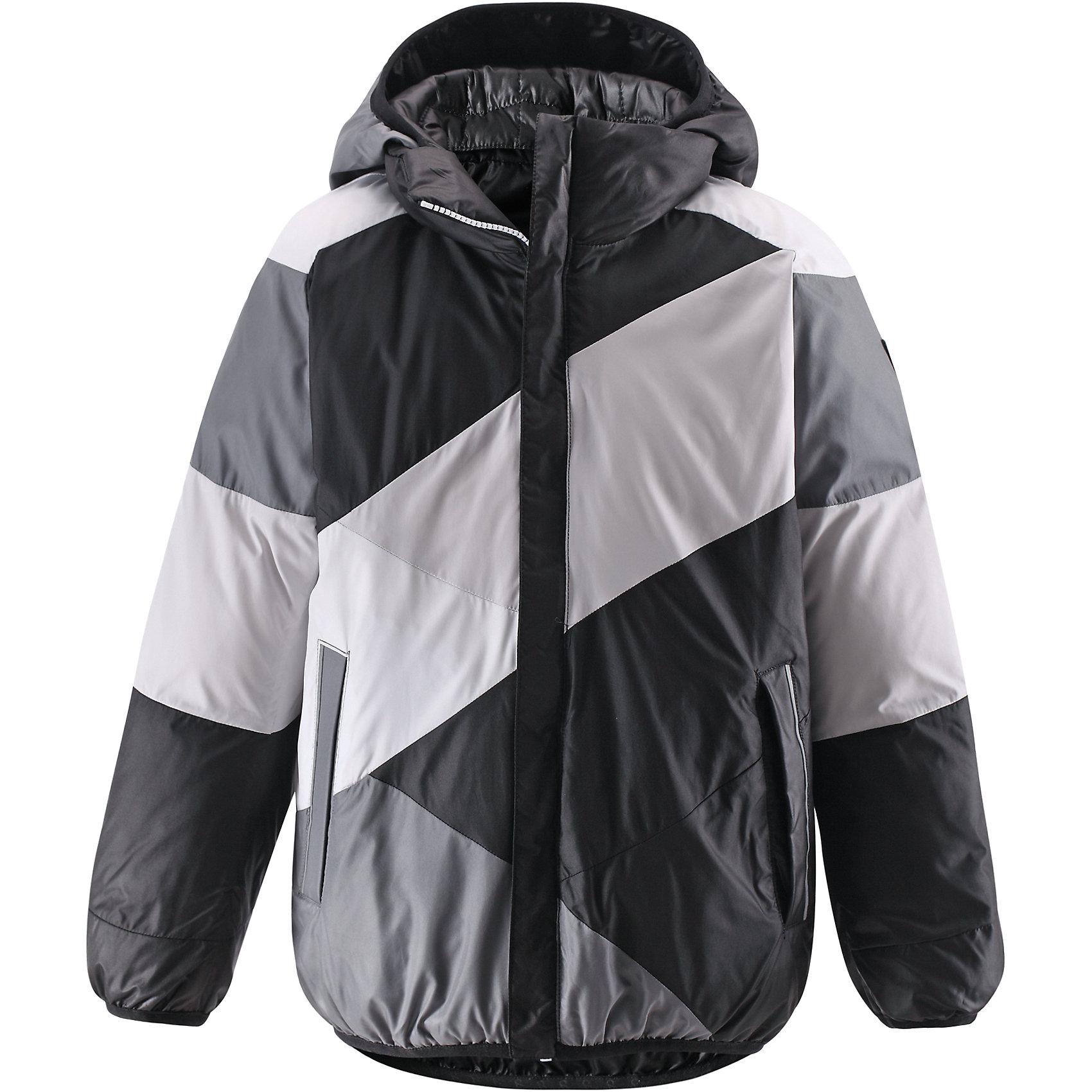 Куртка для мальчика ReimaДвусторонняя куртка для мальчика от финской марки Reima.<br><br>Сегодня однотонная, а завтра яркая и разноцветная! Этот весёлый двусторонний пуховик для детей согреет любителей прогулок в морозные зимние деньки! Пошит из ветронепроницаемого и пропускающего воздух материала, который отталкивает грязь и влагу.<br><br>В этом пуховике вашему ребёнку будет сухо и тепло на прогулке. Традиционный пуховик прямого покроя со съёмным капюшоном, который защитит от зимнего ветра. На этой великолепной зимней куртке имеется множество светоотражающих деталей, например, светоотражающие канты на карманах. Съёмный капюшон обеспечивает дополнительную надёжность - если закреплённый кнопками капюшон зацепится за что-нибудь, он легко отстегнётся. Выберите свой любимый цвет среди модных в этом сезоне расцветок!<br>- Двусторонний пуховик для подростков<br>- Одна сторона однотонная, другая - разноцветная<br>- Карманы на молниях<br>- Эластичный кант на манжетах рукавов, по краю капюшона и подола<br>- Безопасный съёмный капюшон<br><br>Состав:<br>100% ПЭ<br><br>Ширина мм: 356<br>Глубина мм: 10<br>Высота мм: 245<br>Вес г: 519<br>Цвет: черный<br>Возраст от месяцев: 48<br>Возраст до месяцев: 60<br>Пол: Мужской<br>Возраст: Детский<br>Размер: 110,164,140,152,146,134,128,122,116,104,158<br>SKU: 4632082