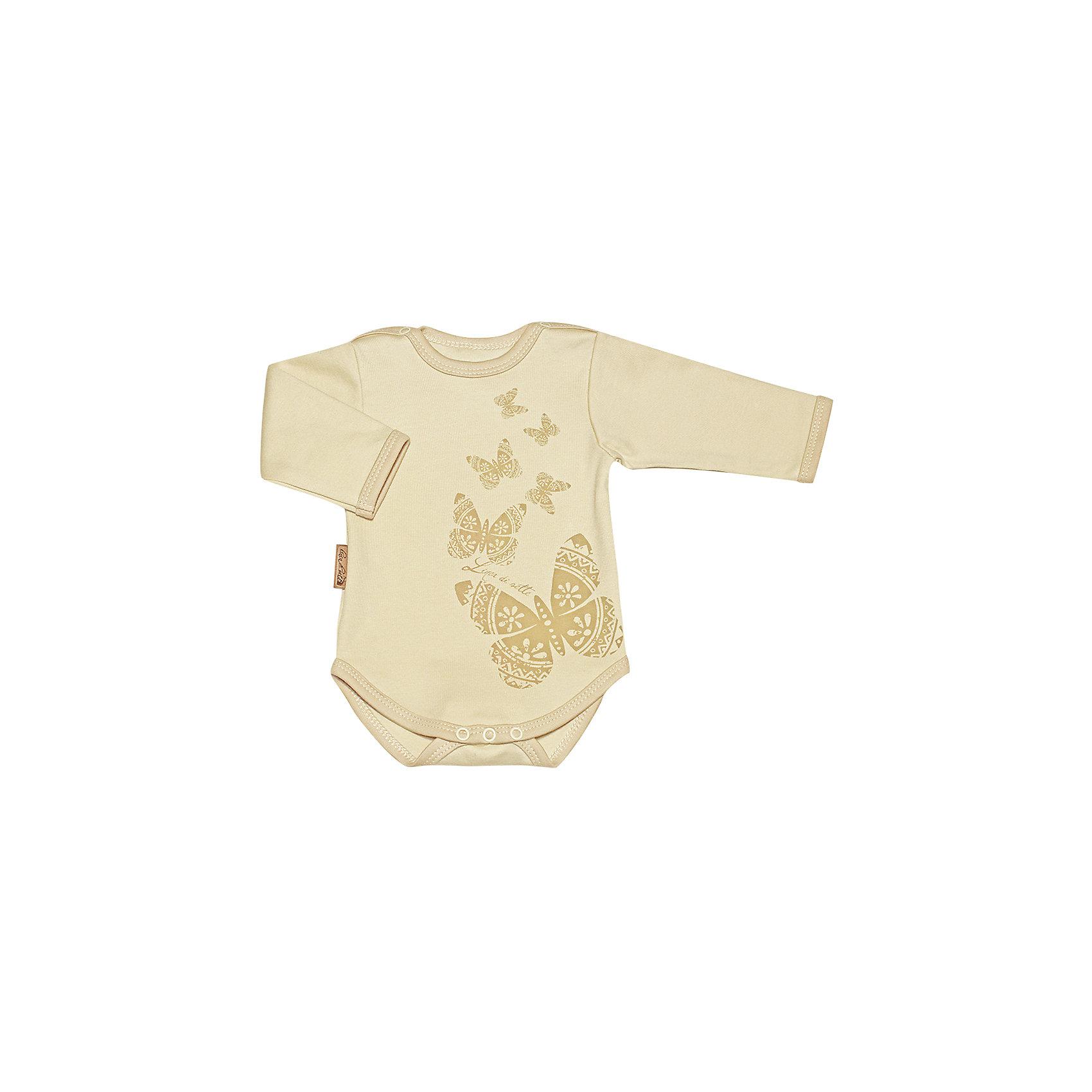 Боди Бабочка  Linea di setteБоди Linea di sette с длинными рукавами. Кнопочная застежка на плечиках и по низу изделияпозволят быстро одеть или сменить подгузник малышу. Принт выполнен безопасными водными красками.<br>Состав:<br>cotton organic 100%; Материал: интерлок высшего качества-пенье, 100%; органический хлопок.<br><br>Ширина мм: 157<br>Глубина мм: 13<br>Высота мм: 119<br>Вес г: 200<br>Цвет: бежевый<br>Возраст от месяцев: 3<br>Возраст до месяцев: 6<br>Пол: Унисекс<br>Возраст: Детский<br>Размер: 80,68,56,62,86,74<br>SKU: 4632471