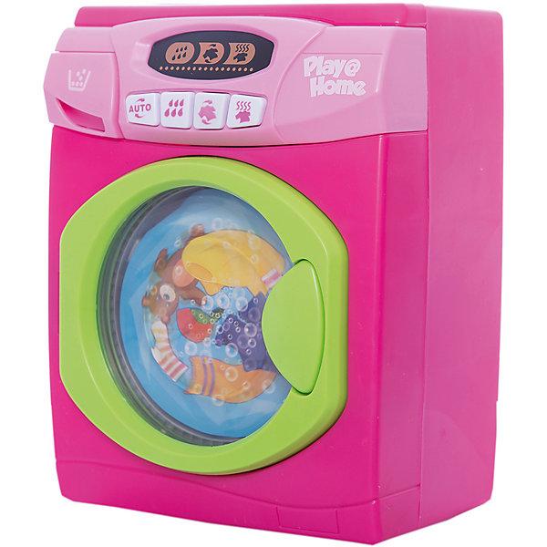Стиральная машинка, KeenwayИгрушечная бытовая техника<br>Ваша юная хозяйка придет в восторг от такой стиральной машинки! Игрушка прекрасно детализирована, выглядит как настоящая стиральная!  Отделение для порошка открывается, при выборе режима набор воды слышен звук наливающейся воды, при выборе режима стирка  барабан начинает крутится и слышны звуки работающей машины. Все детали выполнены из высококачественных прочных материалов безопасных для детей. Прекрасный подарок для любой девочки! <br><br>Дополнительная информация:<br><br>- Материал: пластик, металл.<br>- Размер: 17 х 12 х 22 см.<br>- Звуковые, световые эффекты.<br>- Барабан вращается. <br>- Элемент питания: 3 С батарейки (в комплекте).<br><br>Стиральную машинку Keenway можно купить в нашем магазине.<br><br>Ширина мм: 170<br>Глубина мм: 220<br>Высота мм: 120<br>Вес г: 1176<br>Возраст от месяцев: 36<br>Возраст до месяцев: 84<br>Пол: Женский<br>Возраст: Детский<br>SKU: 4632752