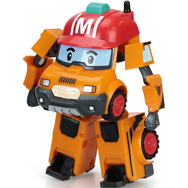 Марк трансформер, 10 см, Робокар полиПопулярные игрушки<br>Трансформер Марк, 10 см, Робокар Поли.<br><br>Характеристики:<br><br>- Материал: пластик<br>- Размер игрушки: 10 см.<br>- Упаковка: картонная коробка блистерного типа<br>- Размер упаковки: 12,7 x 12,7 x 16,5 см.<br>- Вес: 223 гр.<br><br>Игрушка выполнена в образе одного из славных жителей городка Брумстаун – члена горноспасательной команды по имени Марк. У игрушки тщательно проработана каждая характерная для героя деталь: ярко-красная кепка на крыше, имитация глаз на лобовом стекле и рот на радиаторной решетке. Колеса подвижные, машинка преодолевают препятствия на пути благодаря рельефным протекторам на их поверхности. Марк умеет за несколько секунд превращаться в робота, стоит только трансформировать кузов в подвижные конечности. Игрушка выполнена из качественного пластика, все её элементы имеют яркую окраску.<br><br>Трансформера Марк, 10 см, Робокар Поли можно купить в нашем интернет-магазине.<br><br>Ширина мм: 127<br>Глубина мм: 127<br>Высота мм: 172<br>Вес г: 268<br>Возраст от месяцев: 36<br>Возраст до месяцев: 84<br>Пол: Мужской<br>Возраст: Детский<br>SKU: 4632757
