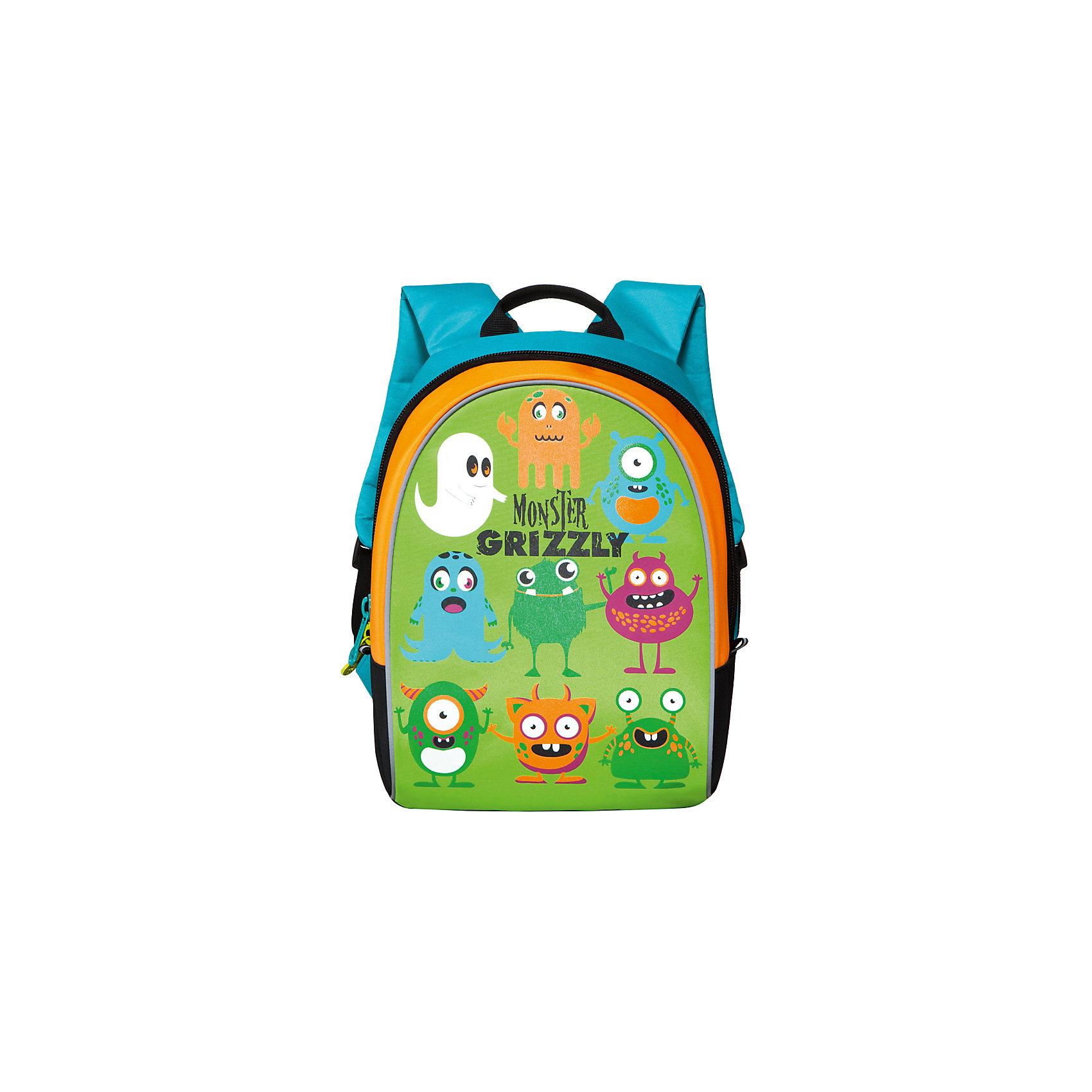 Рюкзак школьный Grizzly Monster , салатовыйАксессуары<br>Яркий рюкзак украшен изображениями забавных монстров на лицевой стороне. Светоотражающие элементы по всему периметру рюкзака делают заметнее ученика в темное время суток.<br><br>Дополнительная информация:<br><br>одно отделение на молнии,<br>внутренний карман, <br>укрепленная спинка, <br>дополнительная ручка-петля, <br>укрепленные лямки, <br>светоотражающие элементы с четырех сторон<br>Карман-пенал на передней стенке<br>Размер:27х35х16см.<br>Вес: 470 г<br><br>Рюкзак школьный, Monster Grizzly , салатовый можно купить в нашем магазине.<br><br>Ширина мм: 270<br>Глубина мм: 160<br>Высота мм: 350<br>Вес г: 466<br>Возраст от месяцев: 72<br>Возраст до месяцев: 120<br>Пол: Мужской<br>Возраст: Детский<br>SKU: 4632772