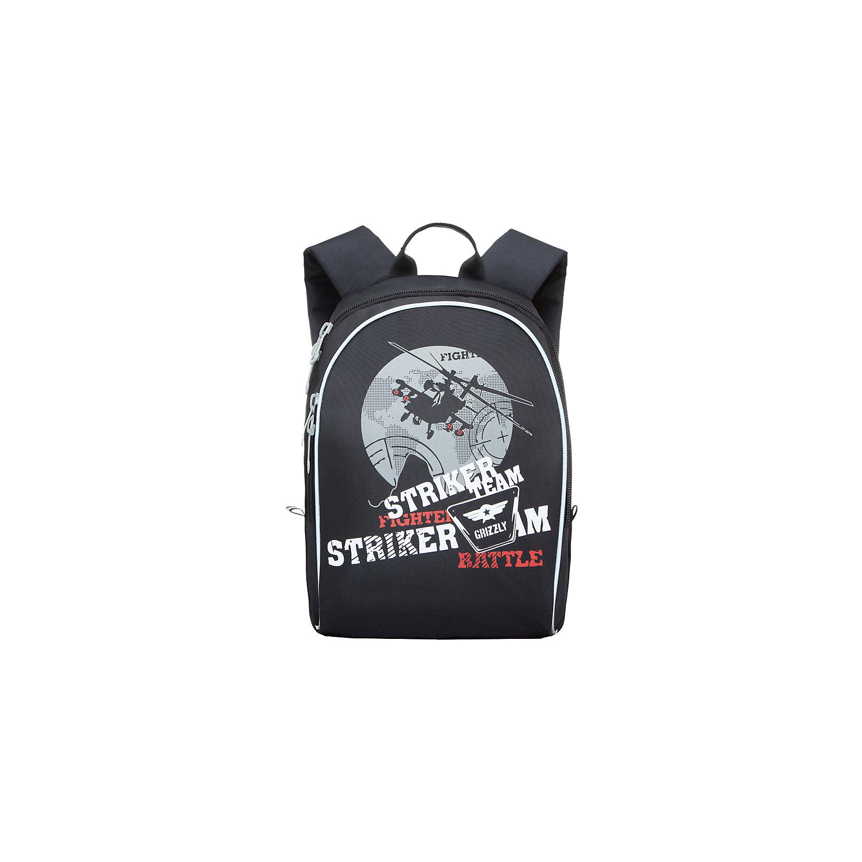 Школьный рюкзак Monster GrizzlyЯркий рюкзак украшен изображениями забавных монстров на лицевой стороне. Светоотражающие элементы по всему периметру рюкзака делают заметнее ученика в темное время суток.<br><br>Дополнительная информация:<br><br>одно отделение на молнии,<br>внутренний карман, <br>укрепленная спинка, <br>дополнительная ручка-петля, <br>укрепленные лямки, <br>светоотражающие элементы с четырех сторон<br>Карман-пенал на передней стенке<br>Размер:27х35х16см.<br>Вес: 470 г<br><br>Рюкзак школьный, Monster Grizzly , черно-серый можно купить в нашем магазине.<br><br>Ширина мм: 270<br>Глубина мм: 160<br>Высота мм: 370<br>Вес г: 388<br>Возраст от месяцев: 72<br>Возраст до месяцев: 120<br>Пол: Мужской<br>Возраст: Детский<br>SKU: 4632773