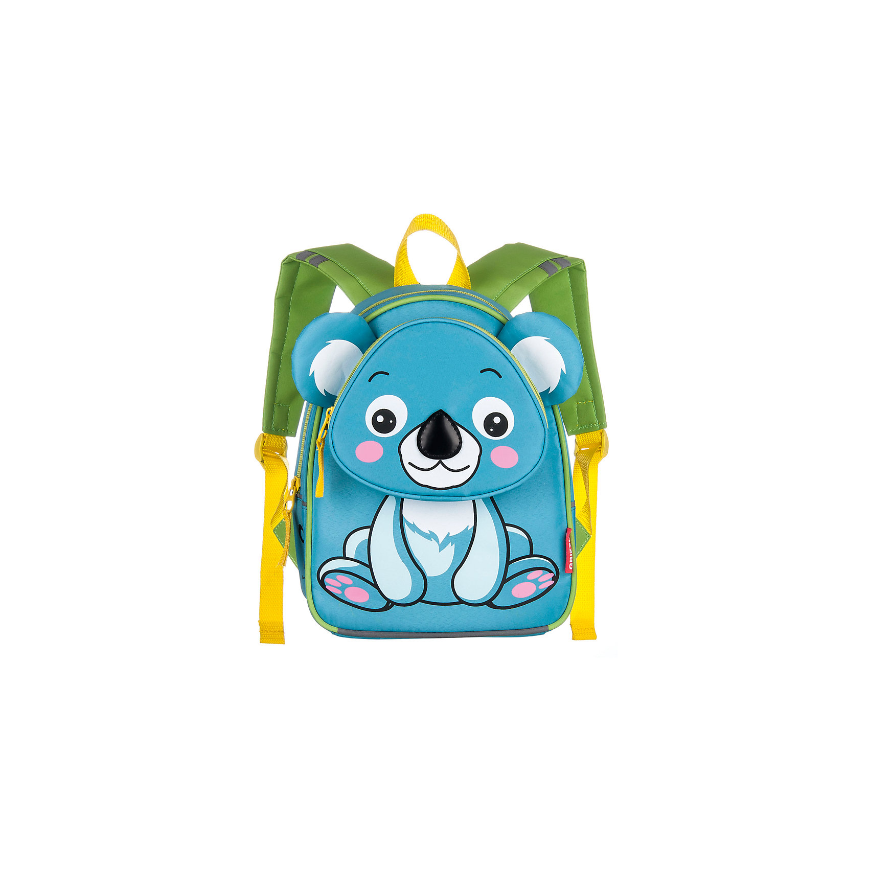 Grizzly Рюкзак детский КоалаАксессуары<br>Рюкзак для дошкольников  с изображением коалы оборудован одним отделением, передним карманом на молнии, внутренним карманом, мягкими лямками и спинкой и ручкой для переноски.<br><br>Дополнительная информация:<br><br>одно отделение, <br>объемный карман на молнии на передней стенке, <br>внутренний карман, <br>укрепленная спинка, <br>мягкие лямки, <br>светоотражающие элементы с четырех сторон<br>вес: 340 г<br>размеры: 24 х 30 х 12 см<br><br>Рюкзак детский Коала можно купить в нашем магазине.<br><br>Ширина мм: 240<br>Глубина мм: 120<br>Высота мм: 300<br>Вес г: 340<br>Возраст от месяцев: 36<br>Возраст до месяцев: 72<br>Пол: Унисекс<br>Возраст: Детский<br>SKU: 4632779