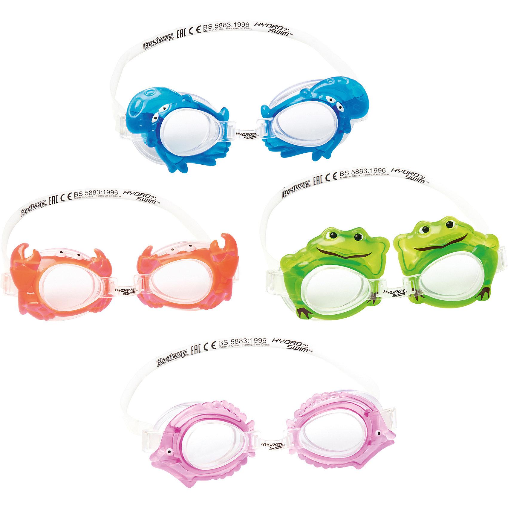 Очки для плавания детские, морские животные в ассортименте, BestwayДетские очки для плавания морские животные, Bestway, замечательно подойдут тем, кто только учится плавать. Очки выполнены в оригинальном дизайне в форме морских обитателей. Качественный ударопрочный материал не раздражает кожу и полностью безопасен для детского<br>здоровья. Очки оснащены линзами со специальным покрытием для предотвращения запотевания, плотно прилегают к лицу и надёжно фиксируются регулируемым ремешком. Оправа из гипоаллергенного и мягкого на ощупь термопластика обеспечивают комфорт во время использования. В ассортименте 4 дизайна в виде морских животных. Подходит для детей от 3 лет.<br><br>Дополнительная информация:<br><br>- Материал: поликарбонат, резина/латекс.<br>- Размер упаковки: 20 х 10 х 3 см.<br>- Вес: 17 гр.<br><br>Очки для плавания детские, морские животные в ассортименте, Bestway, можно купить в нашем интернет-магазине.<br><br>ВНИМАНИЕ! Данный артикул имеется в наличии в разных вариантах исполнения. Заранее выбрать определенный вариант нельзя. При заказе нескольких наборов возможно получение одинаковых.<br><br>Ширина мм: 2050<br>Глубина мм: 1680<br>Высота мм: 360<br>Вес г: 70<br>Возраст от месяцев: 36<br>Возраст до месяцев: 120<br>Пол: Унисекс<br>Возраст: Детский<br>SKU: 4632805