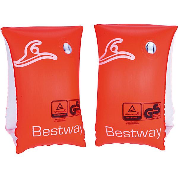 Нарукавники для плавания Safe-2-Swim, BestwayКруги и нарукавники<br>Характеристики товара:<br><br>• материал: полимер<br>• цвет: красный<br>• размер: 25х15 см<br>• легкий материал<br>• для начинающих плавать<br>• надувные<br>• яркие цвета<br>• хорошо заметны на воде<br>• возраст: от 1 до 3 лет<br>• страна бренда: США, Китай<br>• страна производства: Китай<br><br>Это отличный способ научить малышей плавать и обеспечить детям веселое времяпровождение! Нарукавники помогут ребенку больше двигаться и поддерживать хорошую физическую форму.<br><br>Предметы сделаны из прочного материала, но очень легкого - они отлично держатся на воде. Предметы легкие, их удобно брать с собой. Изделия произведены из качественных и безопасных для детей материалов.<br><br>Нарукавники для плавания Safe-2-Swim, от бренда Bestway (Бествей) можно купить в нашем интернет-магазине.<br>Ширина мм: 120; Глубина мм: 195; Высота мм: 300; Вес г: 143; Возраст от месяцев: 12; Возраст до месяцев: 36; Пол: Унисекс; Возраст: Детский; SKU: 4632811;