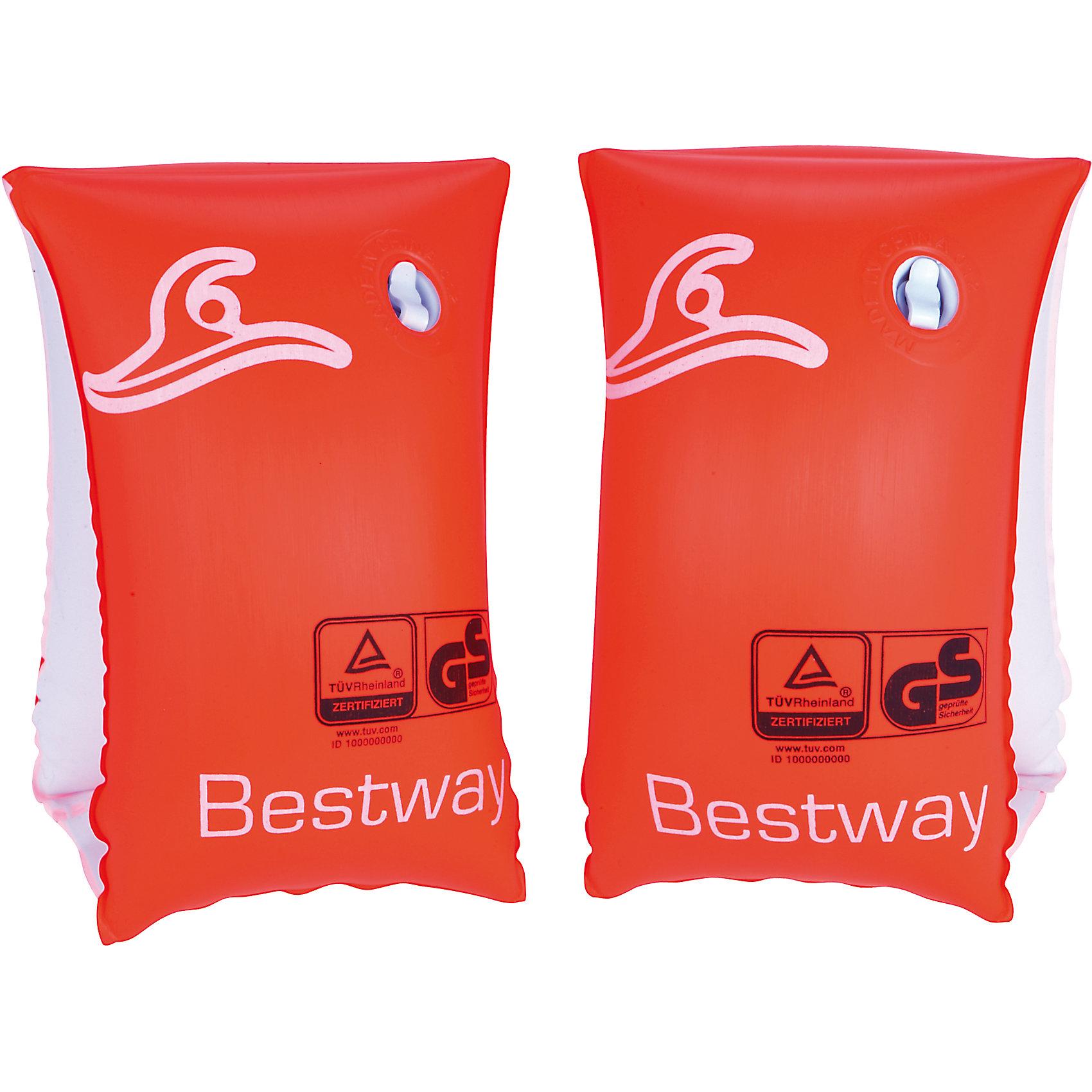 Нарукавники для плавания Safe-2-Swim, BestwayКруги и нарукавники<br>Характеристики товара:<br><br>• материал: полимер<br>• цвет: красный<br>• размер: 25х15 см<br>• легкий материал<br>• для начинающих плавать<br>• надувные<br>• яркие цвета<br>• хорошо заметны на воде<br>• возраст: от 1 до 3 лет<br>• страна бренда: США, Китай<br>• страна производства: Китай<br><br>Это отличный способ научить малышей плавать и обеспечить детям веселое времяпровождение! Нарукавники помогут ребенку больше двигаться и поддерживать хорошую физическую форму.<br><br>Предметы сделаны из прочного материала, но очень легкого - они отлично держатся на воде. Предметы легкие, их удобно брать с собой. Изделия произведены из качественных и безопасных для детей материалов.<br><br>Нарукавники для плавания Safe-2-Swim, от бренда Bestway (Бествей) можно купить в нашем интернет-магазине.<br><br>Ширина мм: 120<br>Глубина мм: 195<br>Высота мм: 300<br>Вес г: 143<br>Возраст от месяцев: 12<br>Возраст до месяцев: 36<br>Пол: Унисекс<br>Возраст: Детский<br>SKU: 4632811