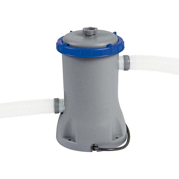 Фильтр-насос 2006 л/час, Bestway, в ассортиментеНасосы и аксессуары для бассейнов<br>Характеристики товара:<br><br>• материал: полимер<br>• комплект дополнен шлангами, четырьмя хомутами, двумя форсунками, сменным фильтром, инструкцией и коробкой для хранения.<br>• производительность: 2006 л/час<br>• мощность: 46 Вт<br>• соединение: под хомут 32 и 38 мм<br>• легкий прочный материал<br>• работает на сменных картриджах Bestway 58094 (II)<br>• практичный<br>• для домашних надувных и каркасных бассейнов объемом до 8500 л<br>• страна бренда: США, Китай<br>• страна производства: Китай<br><br>Такой фильтр-насос помогает быстро очистить воду мусора и грязи - это очень практично и удобно. Установка оснащена двумя помпами с клапанами, которые предназначаются для спуска воздуха, а также отдельным клапаном для удаления отфильтрованных загрязнений. Фильтр легко монтируется к бассейну благодаря двум гофрированным 150-сантиметровым шлангам.<br><br>Предмет сделан из прочного материала, но очень легкого. Фильтр-насос мало весит, его удобно брать с собой. Изделие произведено из качественных и безопасных для детей материалов.<br><br>Фильтр-насос 2006 л/час, в ассортименте, от бренда Bestway (Бествей) можно купить в нашем интернет-магазине.<br><br>Ширина мм: 260<br>Глубина мм: 320<br>Высота мм: 260<br>Вес г: 2389<br>Возраст от месяцев: 36<br>Возраст до месяцев: 1188<br>Пол: Унисекс<br>Возраст: Детский<br>SKU: 4632823