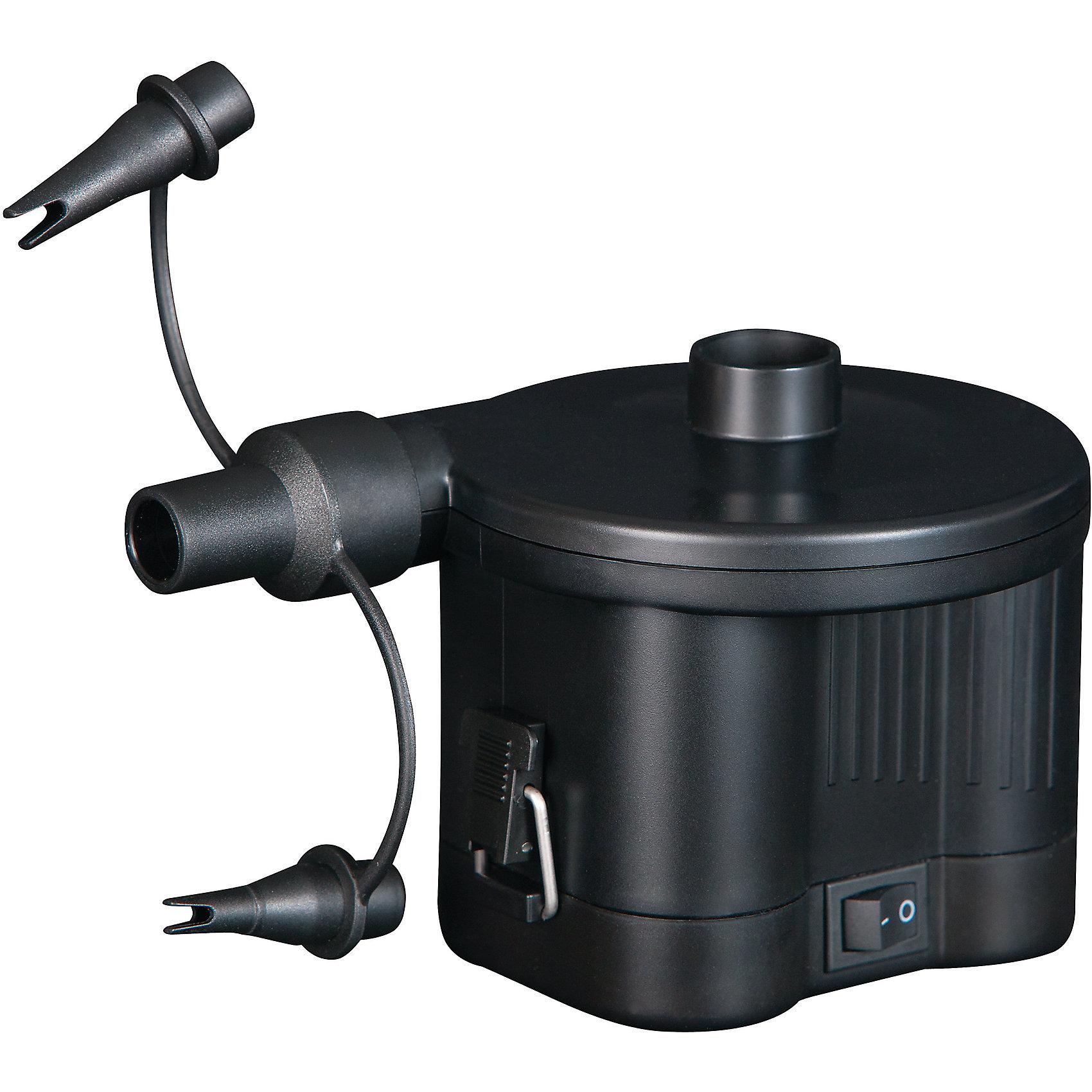 Насос электрический 6В на батарейках, BestwayНасосы и аксессуары для бассейнов<br>Характеристики товара:<br><br>• материал: пластик<br>• цвет: черный<br>• размер: 11х13,5 см<br>• комплектация: насос, три различные по размеру переходника (1,8см/0,8см/0,5см)<br>• напряжение: 6В<br>• легкий прочный материал<br>• для накачивания бассейнов, мячей, игрушек, воздушных шаров, надувных подушек, матрасов и др<br>• батарейки: 4(LR20/D Cell)<br>• страна бренда: США, Китай<br>• страна производства: Китай<br><br>Летом не обойтись без надувных мячей, бассейнов, матрасов, кругов для плавания, а также различных игрушек, подушек и т.д. Чтобы быстро надуть такие изделия, проще всего приобрести небольшой насос, с его помощью накачать вещь воздухом можно быстро и без усилий.<br><br>Предмет сделан из прочного материала, но легкого, насос мало весит, поэтому его удобно брать с собой. Изделие произведено из качественных и безопасных для детей материалов.<br><br>Насос электрический 6В на батарейках от бренда Bestway (Бествей) можно купить в нашем интернет-магазине.<br><br>Ширина мм: 120<br>Глубина мм: 118<br>Высота мм: 110<br>Вес г: 316<br>Возраст от месяцев: 144<br>Возраст до месяцев: 1188<br>Пол: Унисекс<br>Возраст: Детский<br>SKU: 4632826