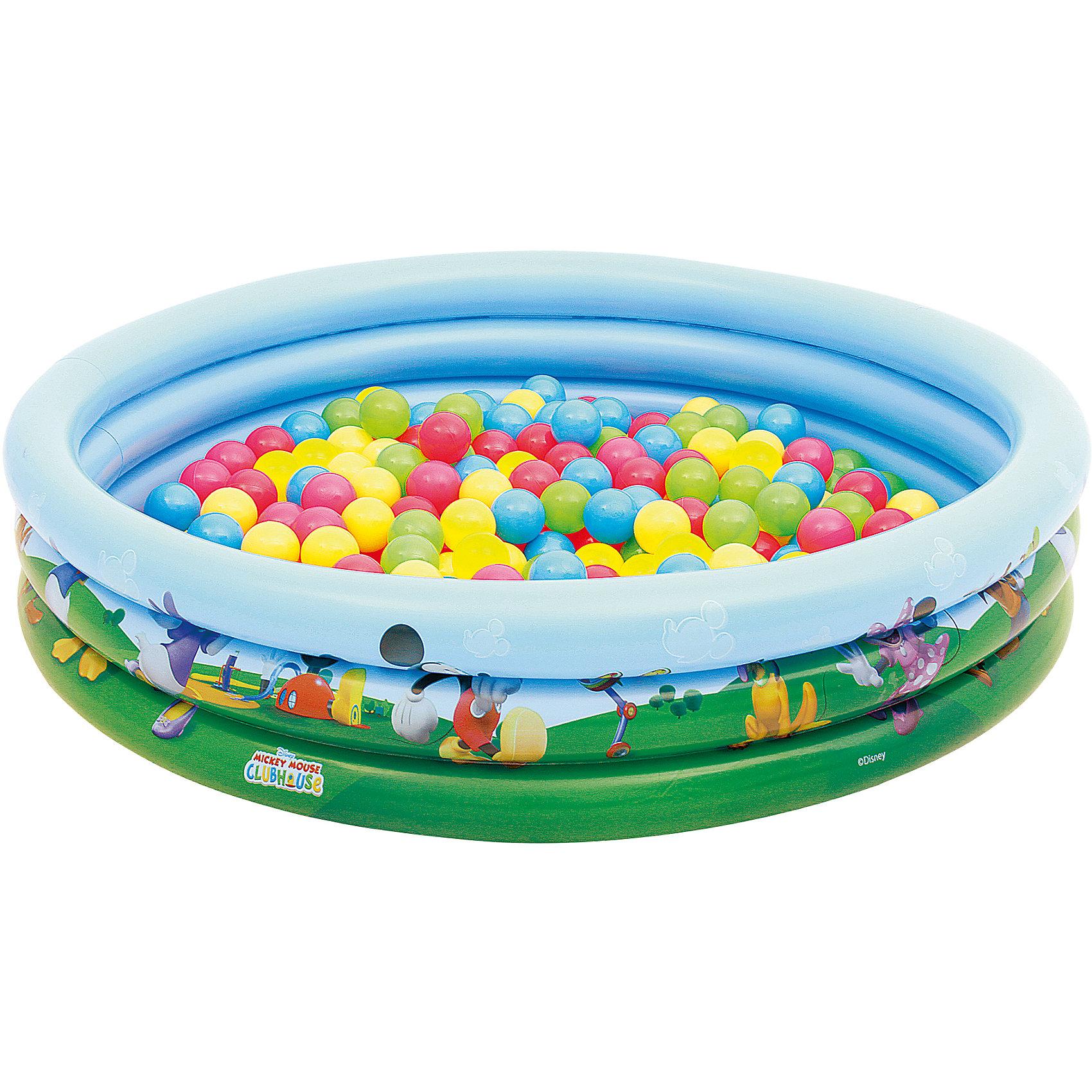 Bestway Детский круглый бассейн (140 л) + 75 шариков, Bestway бассейн надувной bestway hot wheels 122х25 см 140 л