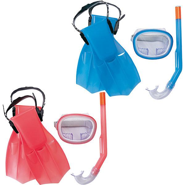 Набор для ныряния Play Pro детский, BestwayОчки, маски, ласты, шапочки<br>Характеристики товара:<br><br>• материал: пластик<br>• комплектация: маска, трубка, ласты<br>• размер упаковки: 45x22x10 см<br>• прочный материал стекла<br>• мягкий загубник на трубке<br>• удобный уплотнитель<br>• плотное прилегание<br>• возможность регулировки размера<br>• возраст: от 3 до 6 лет<br>• страна бренда: США, Китай<br>• страна производства: Китай<br>• Внимание! Товар в ассортименте, нет возможности выбрать товар конкретной расцветки. При заказе нескольких штук возможно получение одинаковых.<br><br>Такой набор позволяет не только участвовать в активных играх, он поможет ребенку познакомиться с интересным подводным миром, расширить его кругозор и привить интерес к знаниям.<br><br>Предметы сделаны из прочного материала, маска плотно прилегает к лицу и не пропускает воду, трубка - с удобным мягким загубником,. Размер легко регулируется под ребенка. Изделия произведены из качественных и безопасных для детей материалов.<br><br>Набор для ныряния Play Pro детский, в ассортименте, от бренда Bestway (Бествей) можно купить в нашем интернет-магазине.<br>Ширина мм: 225; Глубина мм: 435; Высота мм: 100; Вес г: 540; Возраст от месяцев: 36; Возраст до месяцев: 120; Пол: Унисекс; Возраст: Детский; SKU: 4632849;