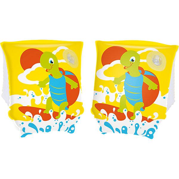 Нарукавники для плавания Черепашки, Bestway, в ассортиментеКруги и нарукавники<br>Характеристики товара:<br><br>• материал: винил<br>• размер: 23х15 см<br>• легкий материал<br>• для начинающих плавать<br>• надувные<br>• декорированы принтом<br>• яркие цвета<br>• хорошо заметны на воде<br>• возраст: от 3 до 6 лет<br>• страна бренда: США, Китай<br>• страна производства: Китай<br><br>Это отличный способ научить малышей плавать и обеспечить детям веселое времяпровождение! Нарукавники помогут ребенку больше двигаться и поддерживать хорошую физическую форму.<br><br>Предметы сделаны из прочного материала, но очень легкого - они отлично держатся на воде. Предметы легкие, их удобно брать с собой. Изделия произведены из качественных и безопасных для детей материалов.<br><br>для плавания Черепашки, в ассортименте, от бренда Bestway (Бествей) можно купить в нашем интернет-магазине.<br>Ширина мм: 150; Глубина мм: 320; Высота мм: 90; Вес г: 86; Возраст от месяцев: 36; Возраст до месяцев: 120; Пол: Мужской; Возраст: Детский; SKU: 4632852;