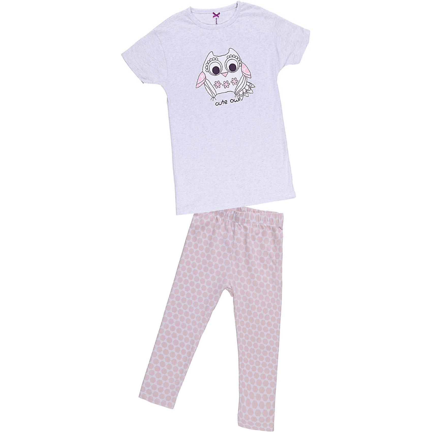 Комплект для девочки: футболка и леггинсы Sweet BerryПижамы и сорочки<br>Удлиненная футболка с лосинами. Футболка украшена принтом. Состав: 95% хлопок, 5% эластан<br><br>Ширина мм: 281<br>Глубина мм: 70<br>Высота мм: 188<br>Вес г: 295<br>Цвет: розовый<br>Возраст от месяцев: 36<br>Возраст до месяцев: 48<br>Пол: Женский<br>Возраст: Детский<br>Размер: 104,116,110,128,98,140,134,122<br>SKU: 4632927