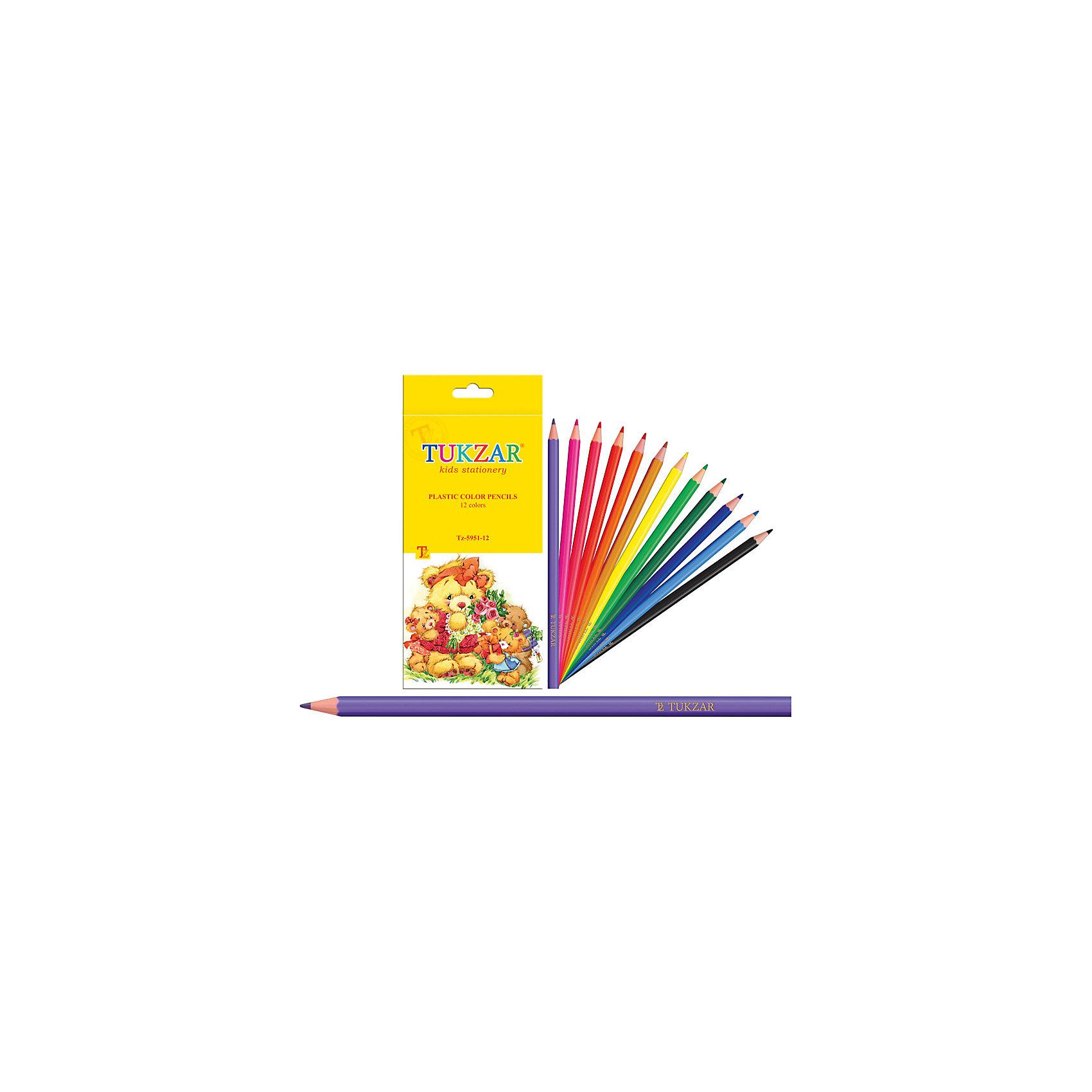 Цветные карандаши, 12 цветовКарандаши цветные пластиковые 12 цветов<br><br>Ширина мм: 150<br>Глубина мм: 10<br>Высота мм: 100<br>Вес г: 40<br>Возраст от месяцев: 36<br>Возраст до месяцев: 120<br>Пол: Унисекс<br>Возраст: Детский<br>SKU: 4633099