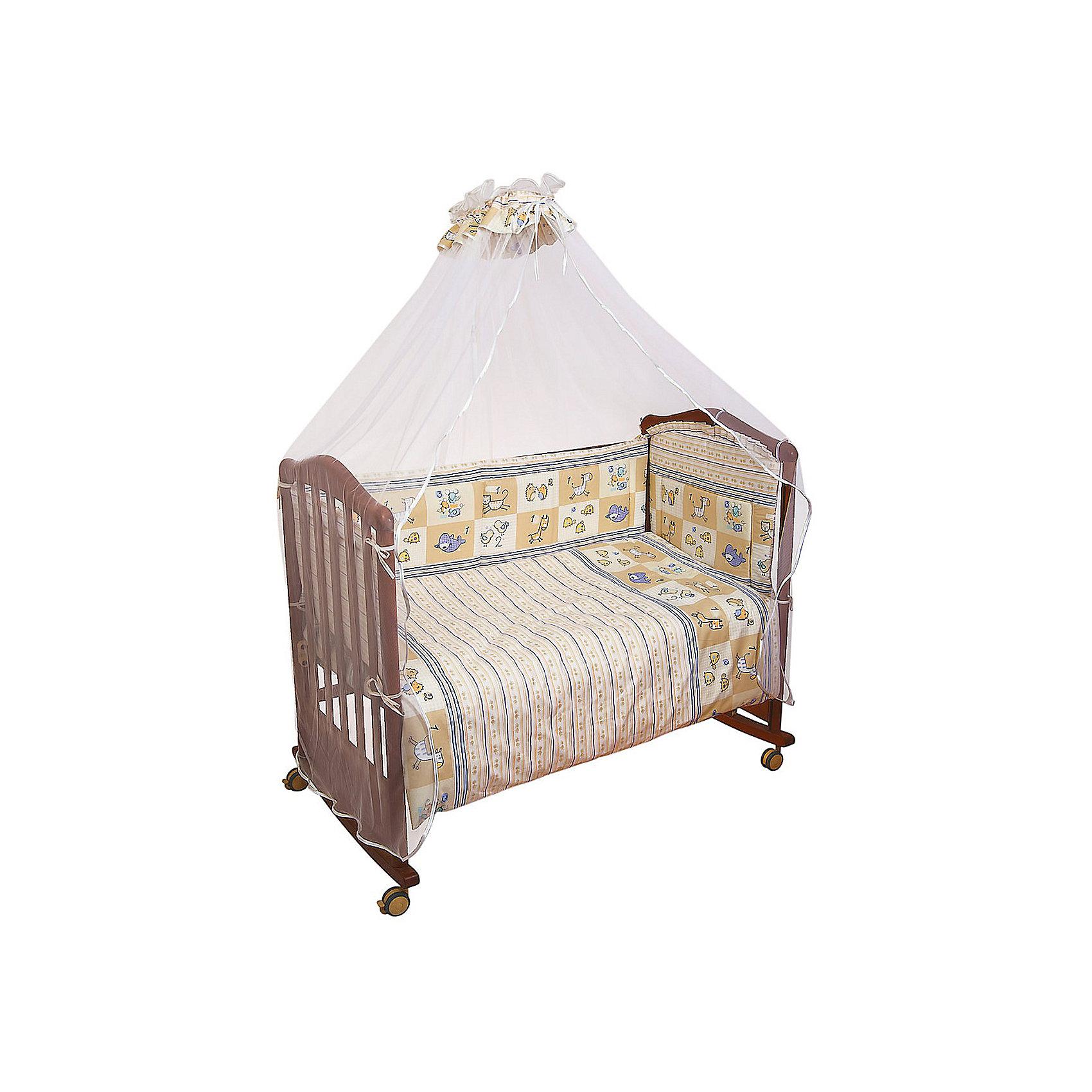 Борт Считалочка, Сонный гномик, бежевыйБорт Считалочка, Сонный гномик, бежевый - прекрасно подойдет для кроватки вашего малыша, добавит комнате уюта и согреет в прохладные дни.<br>Борт «Считалочка» обеспечит Вашему малышу комфорт и безопасность. Борт защитит младенца от сквозняков, пыли и солнца, а когда малыш подрастет и начнет активно двигаться и вставать в кроватке - убережет от возможных ушибов и травм. Кроме того, борт способствует более быстрому засыпанию, поскольку малыша ничего не будет отвлекать извне. Бортик выполнен в привлекательном для ребенка дизайне с бежевой расцветкой и украшен изображениями милых зверушек, их количество рядом с изображением обозначено цифрой. Высокий борт состоит из четырех частей, легко крепится по всему периметру кроватки при помощи текстильных завязок. Материал несъемной обшивки - нежная бязь из самой тонкой нити, 100% хлопок безупречной выделки. Мягкая и приятная на ощупь ткань, не вызывает аллергии и хорошо пропускает воздух. Деликатные швы рассчитаны на прикосновение к нежной коже ребёнка. Наполнитель - ХоллКон - гипоаллергенный синтетический материал, удерживающий тепло. Борт подходит для кроватки размером 120 х 60 см.<br><br>Дополнительная информация:<br><br>- Цвет: бежевый<br>- Авторский рисунок, рассчитанный специально для малышей<br>- Материал: бязь (100% хлопок), наполнитель – ХоллКон (плотность 400 г/кв.м)<br>- Высота: 38 см.<br>- Общая длина: 360 см.<br>- Размер упаковки: 65 х 14 х 49 см.<br>- Вес: 900 гр.<br><br>Борт Считалочка, Сонный гномик, бежевый можно купить в нашем интернет-магазине.<br><br>Ширина мм: 65<br>Глубина мм: 14<br>Высота мм: 49<br>Вес г: 900<br>Возраст от месяцев: 0<br>Возраст до месяцев: 48<br>Пол: Унисекс<br>Возраст: Детский<br>SKU: 4633117