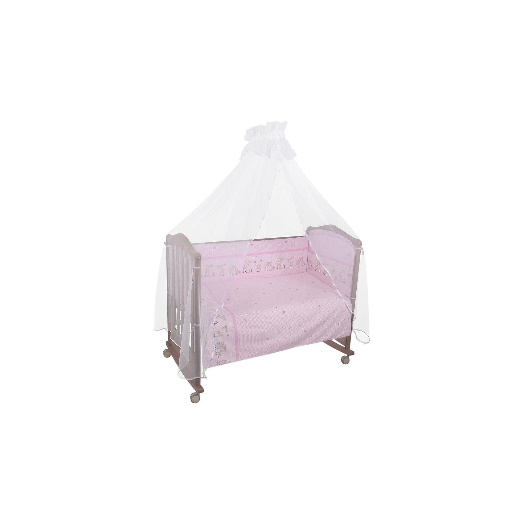 Борт Оленята, Сонный гномик, розовыйБорт Оленята, Сонный гномик, розовый - прекрасно подойдет для кроватки вашего малыша, добавит комнате уюта и согреет в прохладные дни.<br>Борт «Оленята» обеспечит Вашему малышу комфорт и безопасность. Борт защитит младенца от сквозняков, пыли и солнца, а когда малыш подрастет и начнет активно двигаться и вставать в кроватке - убережет от возможных ушибов и травм. Кроме того, борт способствует более быстрому засыпанию, поскольку малыша ничего не будет отвлекать извне. Бортик выполнен в привлекательном для ребенка дизайне с нежной розовой расцветкой и украшен изображениями милых оленят. Высокий борт состоит из четырех частей, легко крепится по всему периметру кроватки при помощи текстильных завязок. Материал съемной обшивки - нежная бязь из самой тонкой нити, 100% хлопок безупречной выделки. Мягкая и приятная на ощупь ткань, не вызывает аллергии и хорошо пропускает воздух. Деликатные швы рассчитаны на прикосновение к нежной коже ребёнка. Наполнитель - холлофайбер - гипоаллергенный мягкий, легкий синтетический материал, удерживающий тепло и хорошо пропускающий воздух. Борт подходит для кроватки размером 120 х 60 см.<br><br>Дополнительная информация:<br><br>- Цвет: розовый<br>- Авторский рисунок, рассчитанный специально для малышей<br>- Чехол застегивается на пластиковую застежку-молнию и легко снимается для стирки<br>- Материал: бязь (100% хлопок), наполнитель – холлофайбер (плотность 400 г/кв.м)<br>- Соответствует OekoTex St 100 class 1 (товары для детей до двух лет)<br>- Высота: 38 см.<br>- Общая длина: 360 см.<br>- Размер упаковки: 65 х 14 х 49 см.<br>- Вес: 900 гр.<br><br>Борт Оленята, Сонный гномик, розовый можно купить в нашем интернет-магазине.<br><br>Ширина мм: 65<br>Глубина мм: 14<br>Высота мм: 49<br>Вес г: 900<br>Возраст от месяцев: 0<br>Возраст до месяцев: 48<br>Пол: Женский<br>Возраст: Детский<br>SKU: 4633118