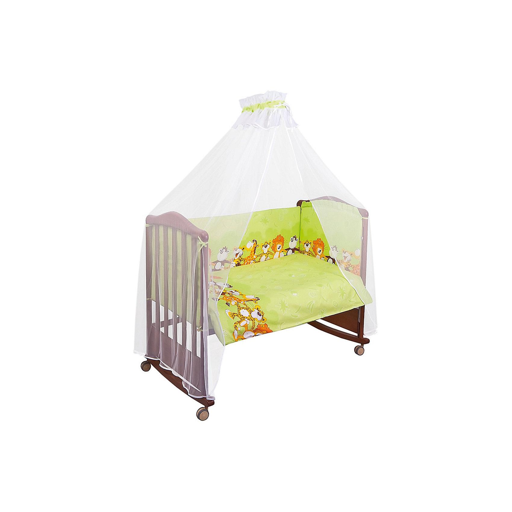 Борт Африка, Сонный гномик, салатовыйБорт Африка, Сонный гномик, салатовый - прекрасно подойдет для кроватки вашего малыша, добавит комнате уюта и согреет в прохладные дни.<br>Борт «Африка» обеспечит Вашему малышу комфорт и безопасность. Борт защитит младенца от сквозняков, пыли и солнца, а когда малыш подрастет и начнет активно двигаться и вставать в кроватке - убережет от возможных ушибов и травм. Кроме того, борт способствует более быстрому засыпанию, поскольку малыша ничего не будет отвлекать извне. Бортик выполнен в привлекательном для ребенка дизайне с салатовой расцветкой и украшен рюшами и красочным рисунком с изображением веселых танцующих зверюшек. Высокий борт состоит из четырех частей, легко крепится по всему периметру кроватки при помощи текстильных завязок. Материал съемной обшивки – нежная бязь (100% хлопок), мягкая приятная на ощупь ткань, не вызывает аллергии и хорошо пропускает воздух. Деликатные швы рассчитаны на прикосновение к нежной коже ребёнка. Наполнитель - Холлофайбер Хард - гипоаллергенный легкий синтетический материал, удерживающий тепло и пропускающий воздух, хорошо держит форму. Борт подходит для кроватки размером 120 х 60 см.<br><br>Дополнительная информация:<br><br>- Цвет: салатовый<br>- Чехлы легко снимается для стирки<br>- Материал: бязь (100% хлопок), наполнитель – Холлофайбер Хард (плотность 400 г/кв.м)<br>- Высота: 50 см.<br>- Общая длина: 360 см.<br>- Размер упаковки: 65 х 15 х 40 см.<br>- Вес: 1400 гр.<br><br>Борт Африка, Сонный гномик, салатовый можно купить в нашем интернет-магазине.<br><br>Ширина мм: 65<br>Глубина мм: 15<br>Высота мм: 40<br>Вес г: 1400<br>Возраст от месяцев: 0<br>Возраст до месяцев: 48<br>Пол: Унисекс<br>Возраст: Детский<br>SKU: 4633126