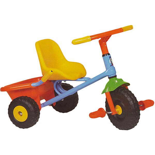 Велосипед трехколесный Junior Rider, OfratВелосипеды детские<br>Детский 3-х колесный велосипед Junior Rider современного дизайна с широкой, устойчивой и крепкой конструкцией - прекрасный вариант для прогулок. Прочная стальная рама и детали из высококачественного пластика гарантируют устойчивость и долговечность. Велосипед имеет удобное эргономичное сиденье с ремнями безопасности и плавной регулировкой положения – ближе-дальше к рулю; рифленые пластиковые педали; устойчивые колеса; тормоз на заднем колесе и звоночек на руле. Модель оснащена вместительной багажной корзиной, которая откидывается как кузов самосвала. Катание на самокате стимулирует ребенка к физической активности на свежем отдыхе, помогает развить различные группы мышц и укрепить иммунитет. <br><br>Дополнительная информация:<br><br>- Материал: сталь, пластик, резина.<br>- Вес: 3,5 кг. <br>- Размер: 51х24,5х28,2 см. <br>- Высота с толкателем: 89-95 см.<br>- Для детей от 15 мес.<br>- Удобное сиденье.<br>- Рифленые пластиковые педали.<br>- Откидывающаяся корзина для игрушек. <br>- Широкая резиновая накладка на переднем колесе. <br>- Ручной тормоз на заднее колесо.<br>- Звоночек на руле.<br><br>Велосипед трехколесный Teeny Trike, Ofrat, можно купить в нашем магазине.<br><br>Ширина мм: 280<br>Глубина мм: 250<br>Высота мм: 510<br>Вес г: 3500<br>Возраст от месяцев: 18<br>Возраст до месяцев: 36<br>Пол: Унисекс<br>Возраст: Детский<br>SKU: 4633670