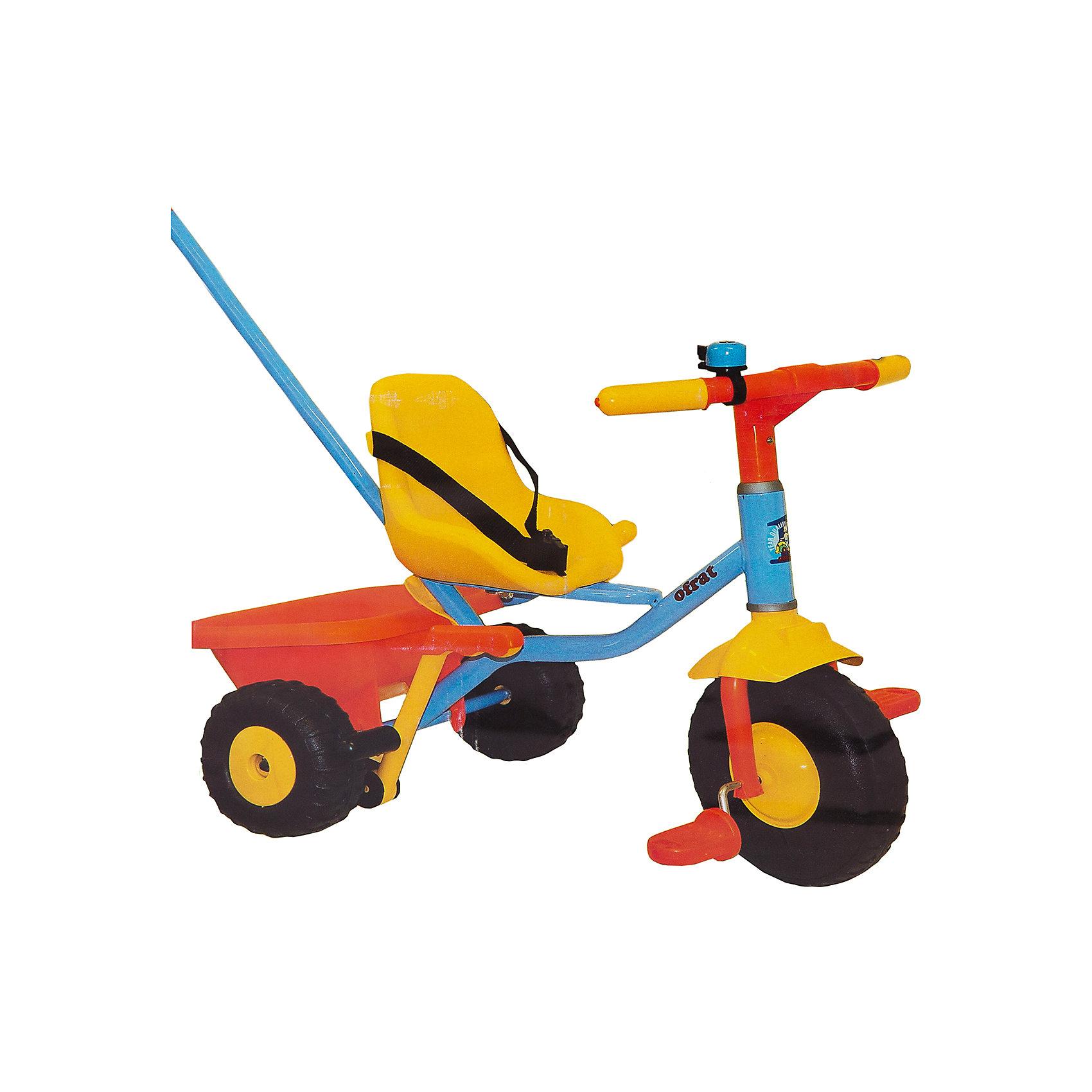 Велосипед трехколесный Junior Rider, OfratДетский 3-х колесный велосипед Junior Rider современного дизайна с широкой, устойчивой и крепкой конструкцией - прекрасный вариант для прогулок. Прочная стальная рама и детали из высококачественного пластика гарантируют устойчивость и долговечность. Велосипед имеет удобное эргономичное сиденье с ремнями безопасности и плавной регулировкой положения – ближе-дальше к рулю; рифленые пластиковые педали; устойчивые колеса; тормоз на заднем колесе и звоночек на руле. Для родителей предусмотрена регулируемая по высоте удобная металлическая ручка-толкатель с пластиковой накладкой. Модель оснащена вместительной багажной корзиной, которая откидывается как кузов самосвала. Катание на самокате стимулирует ребенка к физической активности на свежем отдыхе, помогает развить различные группы мышц и укрепить иммунитет. <br><br>Дополнительная информация:<br><br>- Материал: сталь, пластик, резина.<br>- Вес: 3,5 кг. <br>- Размер: 51х24,5х28,2 см. <br>- Высота с толкателем: 89-95 см.<br>- Для детей от 15 мес.<br>- Удобное сиденье.<br>- Ремень безопасности.<br>- Ручка-толкатель для родителей регулируется по высоте (4 положения). <br>- Рифленые пластиковые педали.<br>- Откидывающаяся корзина для игрушек. <br>- Широкая резиновая накладка на переднем колесе. <br>- Ручной тормоз на заднее колесо.<br>- Звоночек на руле.<br><br>Велосипед трехколесный Teeny Trike, Ofrat, можно купить в нашем магазине.<br><br>Ширина мм: 280<br>Глубина мм: 250<br>Высота мм: 510<br>Вес г: 4200<br>Возраст от месяцев: 15<br>Возраст до месяцев: 36<br>Пол: Унисекс<br>Возраст: Детский<br>SKU: 4633671