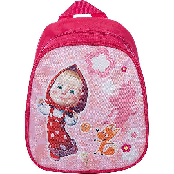 Дошкольный рюкзак Фантазия, Маша и МедведьМаша и Медведь<br>Очаровательный дошкольный рюкзачок «Свинка Пеппа» – это невероятно привлекательный аксессуар для вашей малышки. В его внутреннем отделении на молнии легко поместятся не только игрушки, но даже тетрадка или книжка. Благодаря регулируемым лямкам, рюкзачок подходит детям любого роста. Удобная ручка помогает носить аксессуар в руке или размещать на вешалке. Изделие изготовлено из износостойкой, водонепроницаемой ткани, поэтому оно будет служить долгое время, сохраняя положенные в него вещи сухими даже в дождливую погоду. Рюкзачок декорирован привлекательным принтом (сублимированной печатью). Размер: 23х19х8 см.<br><br>Ширина мм: 255<br>Глубина мм: 210<br>Высота мм: 25<br>Вес г: 161<br>Возраст от месяцев: 36<br>Возраст до месяцев: 72<br>Пол: Женский<br>Возраст: Детский<br>SKU: 4635135