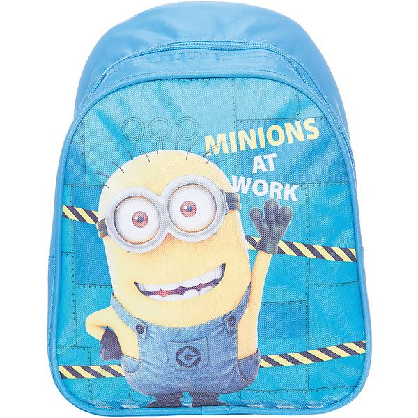 Дошкольный рюкзак МиньоныДетские рюкзаки<br>Очаровательный рюкзачок ТМ «Гадкий Я» – это невероятно привлекательный аксессуар для вашего малыша. В его внутреннем отделении на молнии легко поместятся не только игрушки, но даже тетрадка или книжка. Благодаря регулируемым лямкам, рюкзачок подходит детям любого роста. Удобная ручка помогает носить аксессуар в руке или размещать на вешалке. Изделие изготовлено из износостойкой, водонепроницаемой ткани, поэтому оно будет служить долгое время, сохраняя положенные в него вещи сухими даже в дождливую погоду. Рюкзачок декорирован привлекательным принтом (сублимированной печатью). Размер: 23х19х8 см.<br>Ширина мм: 260; Глубина мм: 210; Высота мм: 25; Вес г: 161; Возраст от месяцев: 36; Возраст до месяцев: 72; Пол: Унисекс; Возраст: Детский; SKU: 4635137;