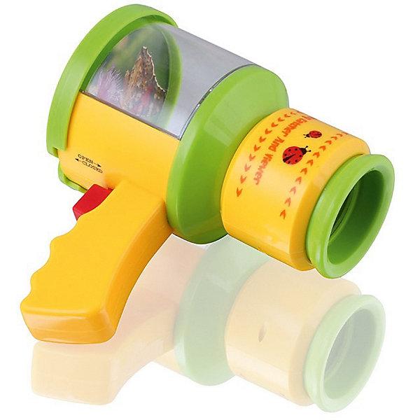 Игрушка ловушка Поймай насекомое, BebelotИгровые наборы<br>Игрушка-ловушка для исследований Поймай насекомое - это удивительное приспособление, позволяющее ловить и рассматривать красивых бабочек и жучков без вреда для них. Позвольте вашему ребенку почувствовать себя настоящим исследователем!  Игрушка представляет собой пластиковый контейнер на ручке, снабженный увеличительной линзой и раздвигающимися створками. Чтобы поймать букашку, необходимо поднести к ней контейнер и нажать кнопку на ручке – дно открывается, и насекомое оказывается внутри. Аккуратно закрывайте контейнер, чтобы не повредить лапки или крылышки. Игрушка-ловушка имеет удобный широкий окуляр, изображение с которого можно приближать и удалять, покрутив кольцо. <br><br>Дополнительная информация:<br><br>- Материал: пластик.<br>- Размер: 15х13х8,5.<br>- В контейнере нет отверстий для воздуха. После изучения выпустите насекомое на волю!<br><br>Игрушку-ловушку Поймай насекомое, Bebelot, можно купить в нашем магазине.<br><br>Ширина мм: 155<br>Глубина мм: 88<br>Высота мм: 135<br>Вес г: 268<br>Возраст от месяцев: 72<br>Возраст до месяцев: 1188<br>Пол: Унисекс<br>Возраст: Детский<br>SKU: 4635554