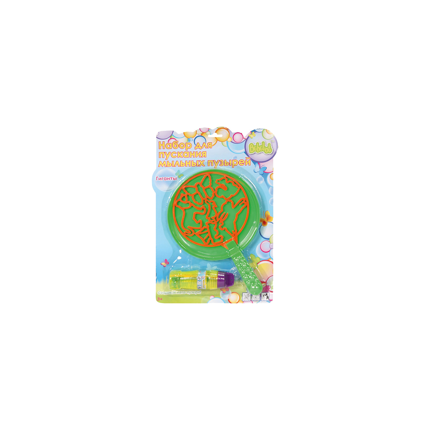 - Набор для пускания мыльных пузырей Гиганты, Bebelot игрушка для активного отдыха bebelot захват beb1106 045