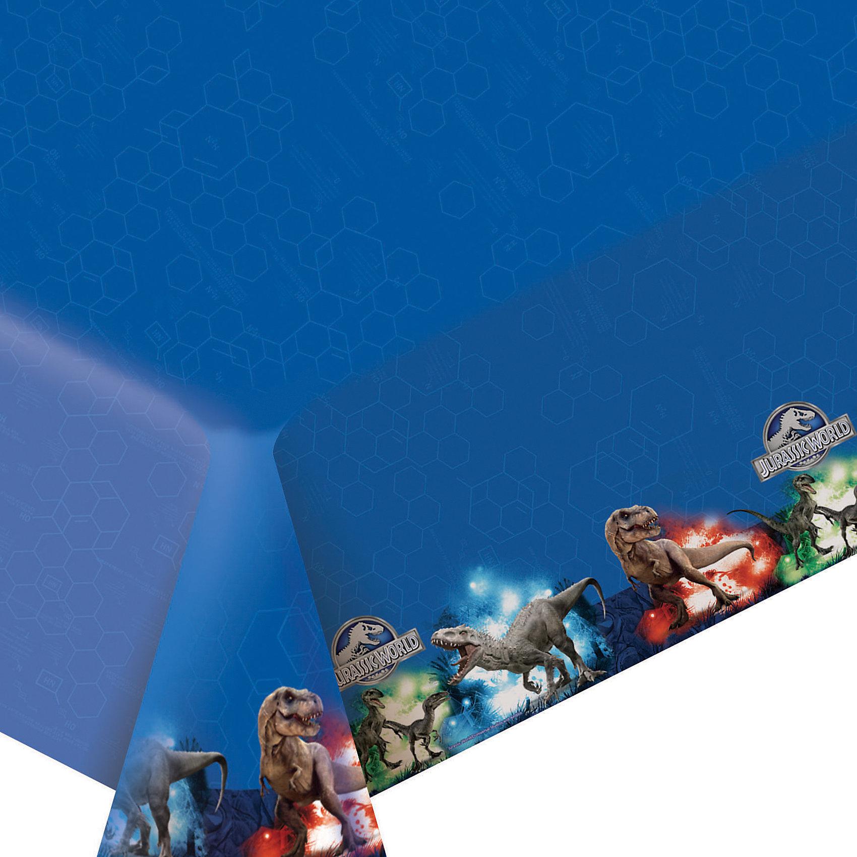 Скатерть Парк Юрского периода 133 * 183 смСалфетки и скатерти<br>Стильная полиэтиленовая скатерть «Парк Юрского периода» размером 133х183 см поможет сделать детское торжество ярче и веселее: она отлично украсит праздничный стол и сохранит его в чистоте. А высокое качество скатерти позволит использовать ее много раз. Вы также можете выбрать другие товары из данной серии: стаканы, тарелки, салфетки, язычки, колпаки, маски, приглашение в конверте, маски, пакеты и др.<br><br>Ширина мм: 425<br>Глубина мм: 180<br>Высота мм: 2<br>Вес г: 106<br>Возраст от месяцев: 48<br>Возраст до месяцев: 120<br>Пол: Унисекс<br>Возраст: Детский<br>SKU: 4637463