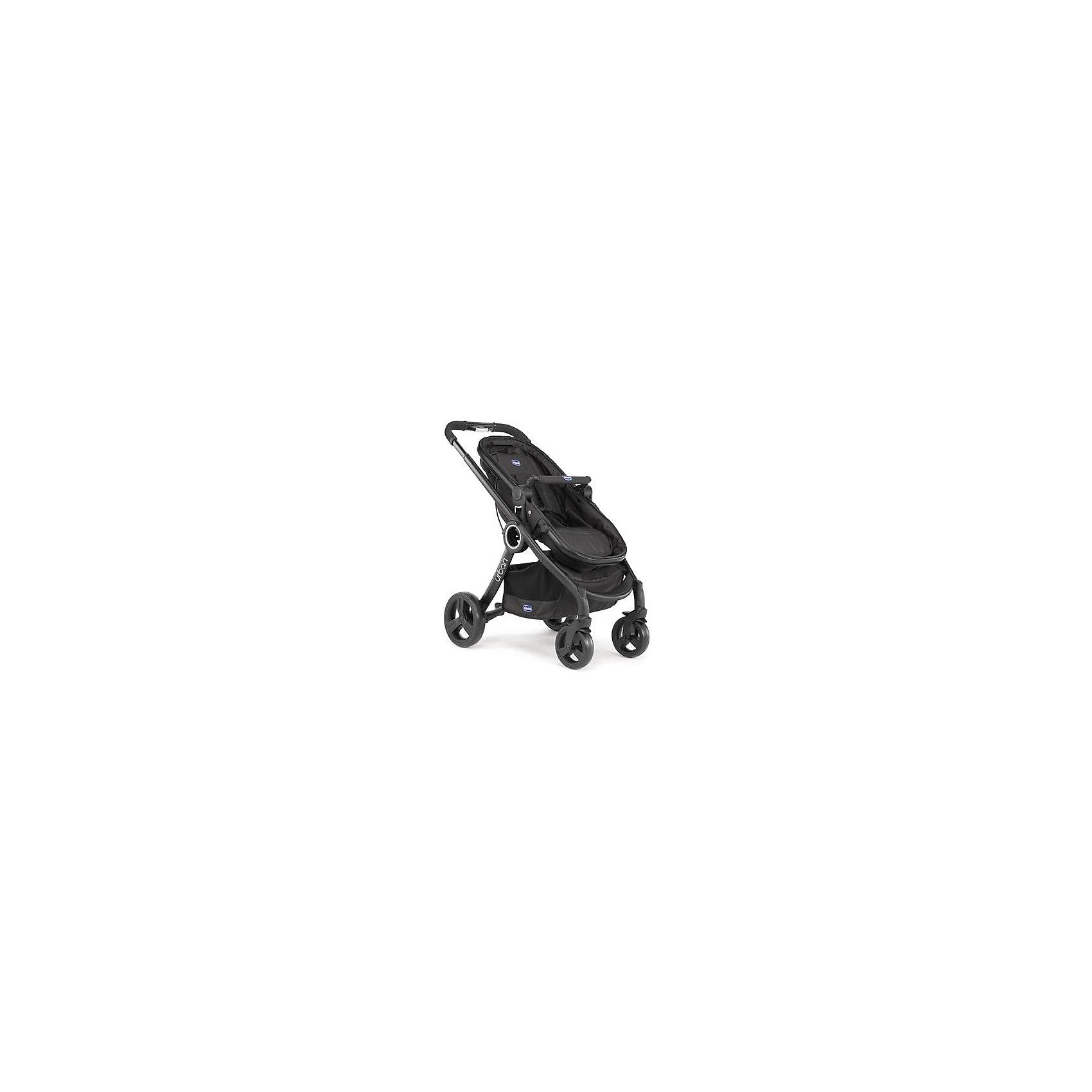 CHICCO Коляска-трансформер Urban Plus, Chicco, черный chicco color pack 06079358990000 07co1403ant набор аксессуаров для коляски urban plus anthracite