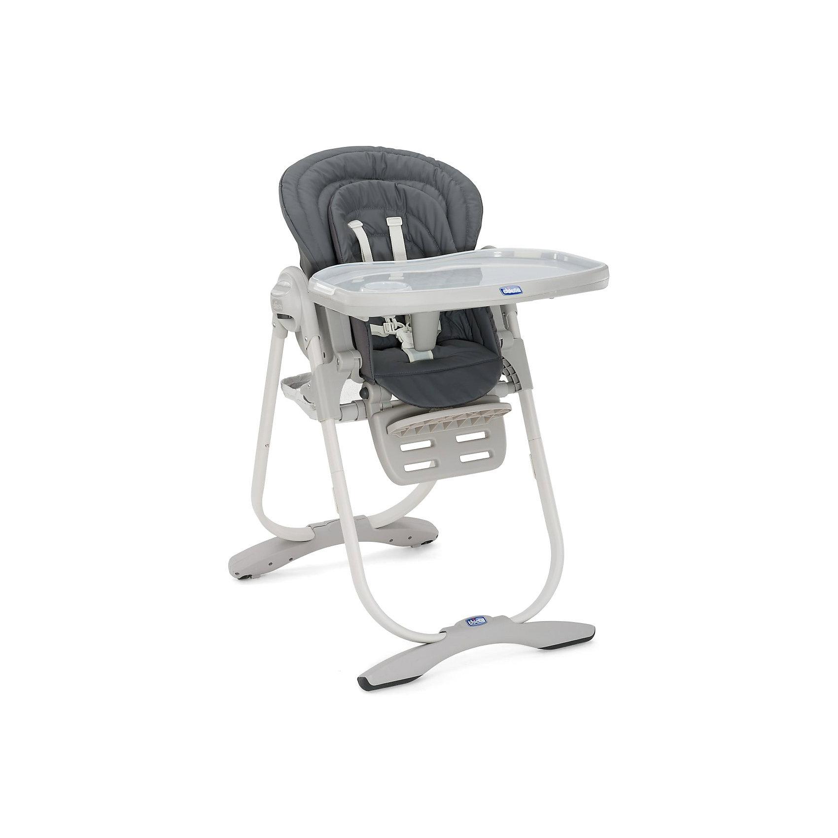 Стульчик для кормления Polly Magic Graphite, ChiccoСтульчики для кормления<br>Стульчик для кормления от Chicco - прекрасный вариант для малышей. Удобный стульчик оснащен мягким вкладышем, ремнями безопасности, пластиковым столиком с разделителем для ножек и регулируемой подножкой. Модель имеет устойчивую и надежную конструкцию, ножки с антискользящими накладками. После того, как малыш подрос и научился есть самостоятельно, пластиковый столик можно снять, верхний вкладыш отсоединить и стул станет первым стулом вашего ребенка, позволяющим ему сидеть за общим столом с мамой и папой. Polly Magic имеет индивидуальный набор игрушек для каждого цвета, чтобы развлекать и развивать ребенка, а также укомплектован большой и широкой корзиной. <br><br>Дополнительная информация:<br><br>- Материал: металл, пластик, текстиль.<br>- Размер: 104.5 x 63.5 x 85 см<br>- Размер в сложенном виде: 27 x 100 см.<br>- Вес: 12,5 кг. <br>- Регулируемая спинка ( 3 положения).<br>- Регулируемая по высоте подножка (3 положения).<br>- Высота регулируется в 6 положениях.<br>- Ремни безопасности.<br>- Мягкий вкладыш.<br>- Пластиковый стол с разделителем для ножек. <br>- Комплект игрушек. <br><br>Стульчик для кормления Polly Magic Graphite, Chicco (Чикко), можно купить в нашем магазине.<br><br>Ширина мм: 560<br>Глубина мм: 320<br>Высота мм: 630<br>Вес г: 12535<br>Возраст от месяцев: 0<br>Возраст до месяцев: 24<br>Пол: Унисекс<br>Возраст: Детский<br>SKU: 4637729