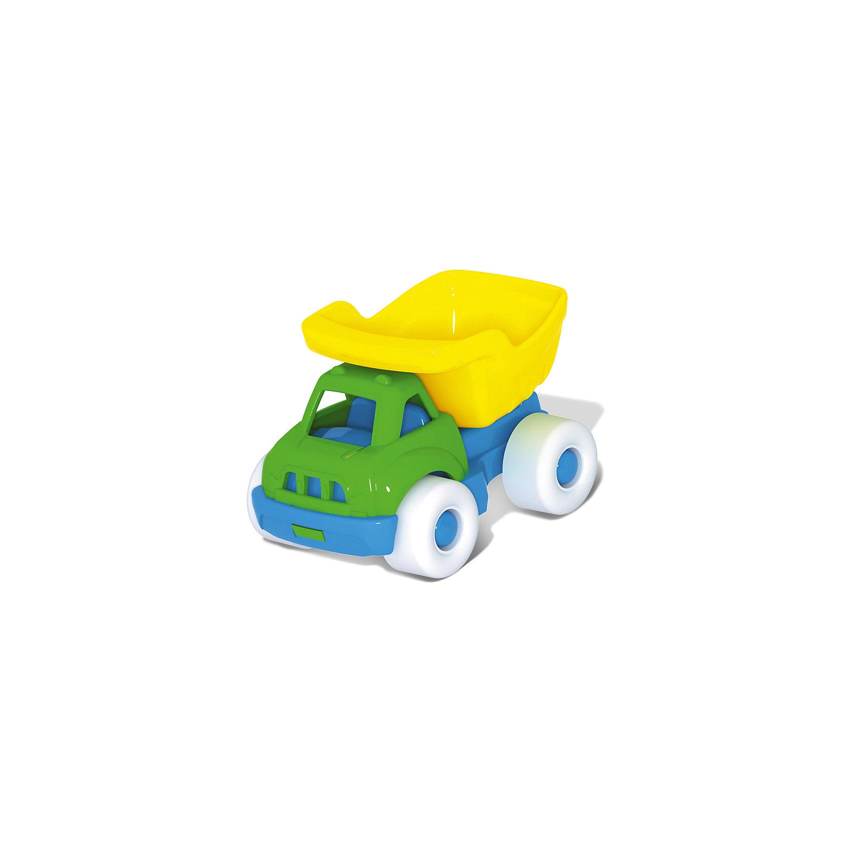Машинка Бублик, СтелларСимпатичная машинка Бублик, Стеллар, придется по душе самым маленьким автолюбителям. Игрушка выполнена в яркой цветовой гамме из качественного экологичного пластика. Имеет оптимальный размер и форму, удобную для маленьких ручек. В ассортименте представлены несколько видов машинок: бетономешалка, экскаватор, пожарная машина (с лестницей), самосвал, грузовик. В каждой машинке имеется подвижный элемент, который заинтересует малыша. Например, у экскаватора сгибается ковш, у бетономешалки крутится барабан, у пожарной машины и самосвала поднимаются лестница и кузов. В комплект входит только одна машинка! Игрушка развивает воображение и фантазию, тренирует мелкую моторику.<br><br>Дополнительная информация:<br><br>- Материал: полипропилен.<br>- Размер игрушки: 8 х 5 х 5 см.<br>- Вес: 100 гр.<br><br>Машинку Бублик, Стеллар, можно купить в нашем интернет-магазине.<br><br>Ширина мм: 80<br>Глубина мм: 53<br>Высота мм: 53<br>Вес г: 100<br>Возраст от месяцев: 36<br>Возраст до месяцев: 72<br>Пол: Унисекс<br>Возраст: Детский<br>SKU: 4639137
