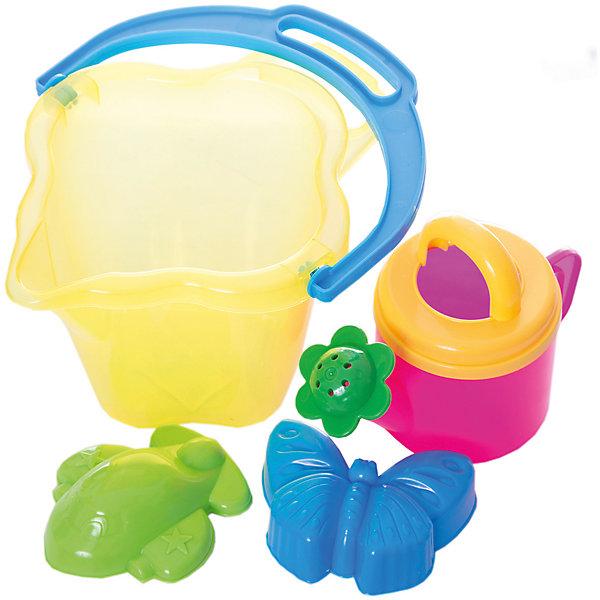 Набор для игры в песочнице, СтелларИграем в песочнице<br>Игра с песком - одна из самых любимых забав у малышей. А с красочными игрушками для песочницы любимое занятие станет еще веселее и интереснее. В Набор для игры в песочнице, Стеллар, входят две формочки, ведёрко и лейка. Все предметы имеют эргономичную форму,<br>удобную для захвата маленькой детской ручкой. Ведерко прямоугольной формы и лейка прекрасно подходят для строительства сказочных замков или для садовых работ. А с помощью ярких формочек получатся симпатичные фигурки-куличики. Набор выполнен из качественного и прочного материала, не содержащего в составе вредных красителей. Способствует развитию тактильных ощущений, мелкой и крупной моторики, а также двигательной активности ребенка.<br><br>Дополнительная информация:        <br><br>- В комплекте: 1 ведерко, 1 лейка, 2 формочки.<br>- Материал: пластик. <br>- Размер упаковки: 18 х 22 х 17,5 см.<br>- Вес: 0,4 кг.<br><br>Набор для игры в песочнице, Стеллар, можно купить в нашем интернет-магазине.<br>Ширина мм: 180; Глубина мм: 220; Высота мм: 175; Вес г: 400; Возраст от месяцев: 36; Возраст до месяцев: 72; Пол: Унисекс; Возраст: Детский; SKU: 4639139;