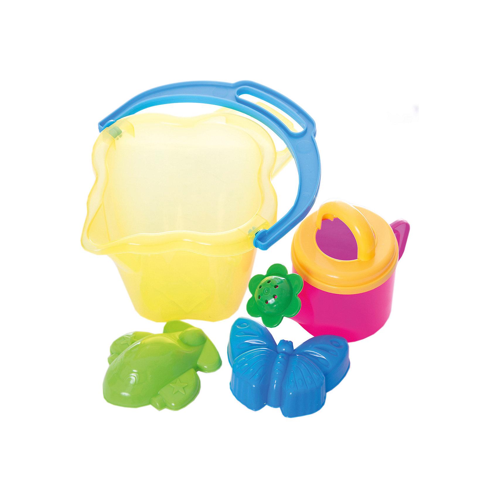 Набор для игры в песочнице, СтелларИгра с песком - одна из самых любимых забав у малышей. А с красочными игрушками для песочницы любимое занятие станет еще веселее и интереснее. В Набор для игры в песочнице, Стеллар, входят две формочки, ведёрко и лейка. Все предметы имеют эргономичную форму,<br>удобную для захвата маленькой детской ручкой. Ведерко прямоугольной формы и лейка прекрасно подходят для строительства сказочных замков или для садовых работ. А с помощью ярких формочек получатся симпатичные фигурки-куличики. Набор выполнен из качественного и прочного материала, не содержащего в составе вредных красителей. Способствует развитию тактильных ощущений, мелкой и крупной моторики, а также двигательной активности ребенка.<br><br>Дополнительная информация:        <br><br>- В комплекте: 1 ведерко, 1 лейка, 2 формочки.<br>- Материал: пластик. <br>- Размер упаковки: 18 х 22 х 17,5 см.<br>- Вес: 0,4 кг.<br><br>Набор для игры в песочнице, Стеллар, можно купить в нашем интернет-магазине.<br><br>Ширина мм: 180<br>Глубина мм: 220<br>Высота мм: 175<br>Вес г: 400<br>Возраст от месяцев: 36<br>Возраст до месяцев: 72<br>Пол: Унисекс<br>Возраст: Детский<br>SKU: 4639139