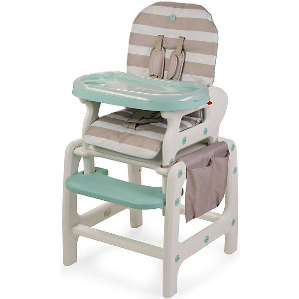 Стульчик-трансформер Oliver V2, Happy Baby, бежевыйСтульчики для кормления<br>Стульчик-трансформер Oliver V2, Happy Baby, обеспечит комфорт и безопасность Вашего малыша во время кормления. Оригинальная конструкция позволяет использовать стульчик в 3-х положениях, в зависимости от возраста и потребностей малыша: 1. высокий стульчик для кормления малыша, 2. в качестве кресла-качалки и 3. как парту, за которой малыш будет учиться, рисовать и играть. У стульчика удобные сиденье и спинка, пятиточечные ремни безопасности надёжно удерживают ребёнка и регулируются по росту. Спинка с 3 положениями наклона, в том числе полулежа, и подставка для ножек создают малышу дополнительный комфорт. Удобная столешница со съемным подносом легко снимается и регулируется по глубине в 6 положениях. Сбоку стульчика имеется вместительный тканевый карман для детских принадлежностей и мелочей. В комплект входят дуги для качания, которые легко присоединяются к ножкам стульчика, превращая его в комфортное кресло-качалку.<br><br>Для малышей постарше, которые уже могут есть самостоятельно, поднос можно снять и превратить конструкцию в обычный стул, чтобы ребенок мог есть за общим столом. Когда ребенок подрастет, высокий стульчик легко трансформируется в компактный маленький стульчик и столик, за которым малыш сможет есть как взрослый, рисовать или играть в настольные игры. Стульчик и столик не имеют острых углов, устойчивы к ударам и падениям и полностью безопасны для малыша. Съемное тканевое покрытие из водонепроницаемого материала легко снимать и чистить. Подходит для детей в возрасте от 6 месяцев, максимальный вес - 18 кг.<br><br>Дополнительная информация:<br><br>- Цвет: бежевый.<br>- Материал: пластик, текстиль.<br>- Ширина сиденья: 35 см.<br>- Размеры спального места: 80 х 36 см.<br>- Размеры стульчика в разложенном виде: 67 х 58 х 103 см.<br>- Размеры в упаковке: 60 х 40 х 53 см.<br>- Вес: 8,2 кг.<br><br>Стульчик-трансформер Oliver V2, Happy Baby, бежевый, можно купить в нашем интернет-магази