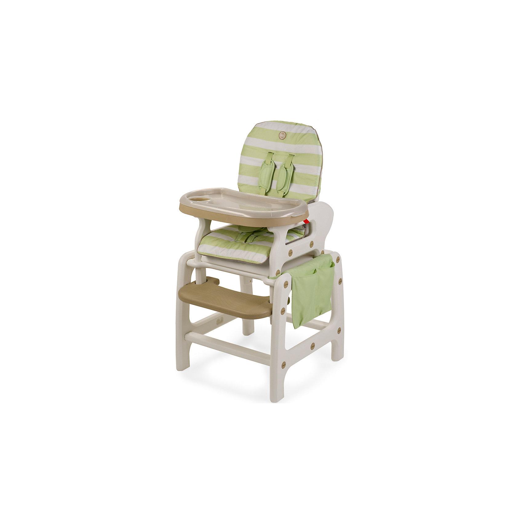 Стульчик-трансформер Oliver V2, Happy Baby, зеленыйтрансформеры<br>Стульчик-трансформер Oliver V2, Happy Baby, обеспечит комфорт и безопасность Вашего малыша во время кормления. Оригинальная конструкция позволяет использовать стульчик в 3-х положениях, в зависимости от возраста и потребностей малыша: 1. высокий стульчик для кормления малыша, 2. в качестве кресла-качалки и 3. как парту, за которой малыш будет учиться, рисовать и играть. У стульчика удобные сиденье и спинка, пятиточечные ремни безопасности надёжно удерживают ребёнка и регулируются по росту. Спинка с 3 положениями наклона, в том числе полулежа, и подставка для ножек создают малышу дополнительный комфорт. Удобная столешница со съемным подносом легко снимается и регулируется по глубине в 6 положениях. Сбоку стульчика имеется вместительный тканевый карман для детских принадлежностей и мелочей. В комплект входят дуги для качания, которые легко присоединяются к ножкам стульчика, превращая его в комфортное кресло-качалку.<br>Для малышей постарше, которые уже могут есть самостоятельно, поднос можно снять и превратить конструкцию в обычный стул, чтобы ребенок мог есть за общим столом. Когда ребенок подрастет, высокий стульчик легко трансформируется в компактный маленький стульчик и столик, за которым малыш сможет есть как взрослый, рисовать или играть в настольные игры. Стульчик и столик не имеют острых углов, устойчивы к ударам и падениям и полностью безопасны для малыша. Съемное тканевое покрытие из водонепроницаемого материала легко снимать и чистить. Подходит для детей в возрасте от 6 месяцев, максимальный вес - 18 кг.<br><br>Дополнительная информация:<br><br>- Цвет: зеленый.<br>- Материал: пластик, текстиль.<br>- Ширина сиденья: 35 см.<br>- Размеры спального места: 80 х 36 см.<br>- Размеры стульчика в разложенном виде: 67 х 58 х 103 см.<br>- Размеры в упаковке: 60 х 40 х 53 см.<br>- Вес: 8,2 кг.<br><br>Стульчик-трансформер Oliver V2, Happy Baby, зеленый, можно купить в нашем интернет-магазине.<br><br>Шири